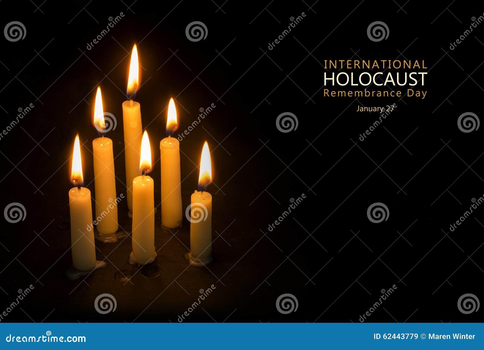 Día de la conmemoración del holocausto, el 27 de enero, velas contra el CCB negro