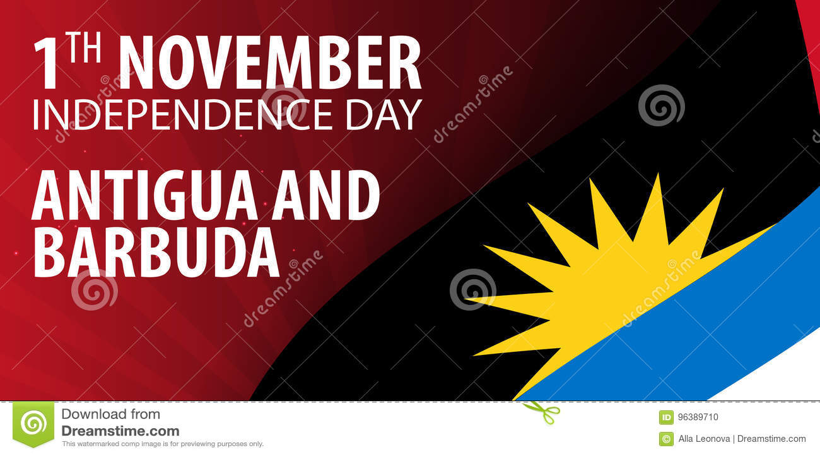 Día De La Independencia De Antigua Y De Barbuda Bandera Y Bandera ...