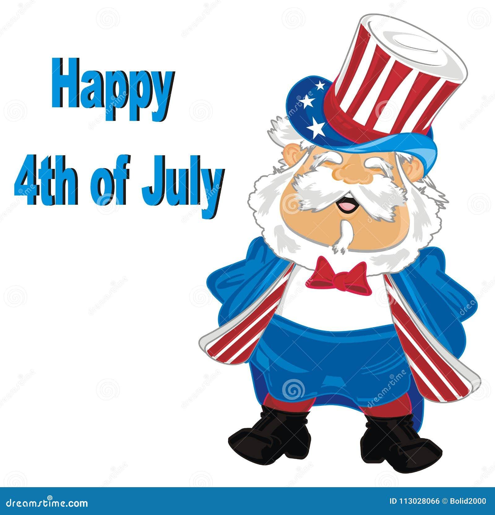Día de la Independencia feliz del 4 de julio