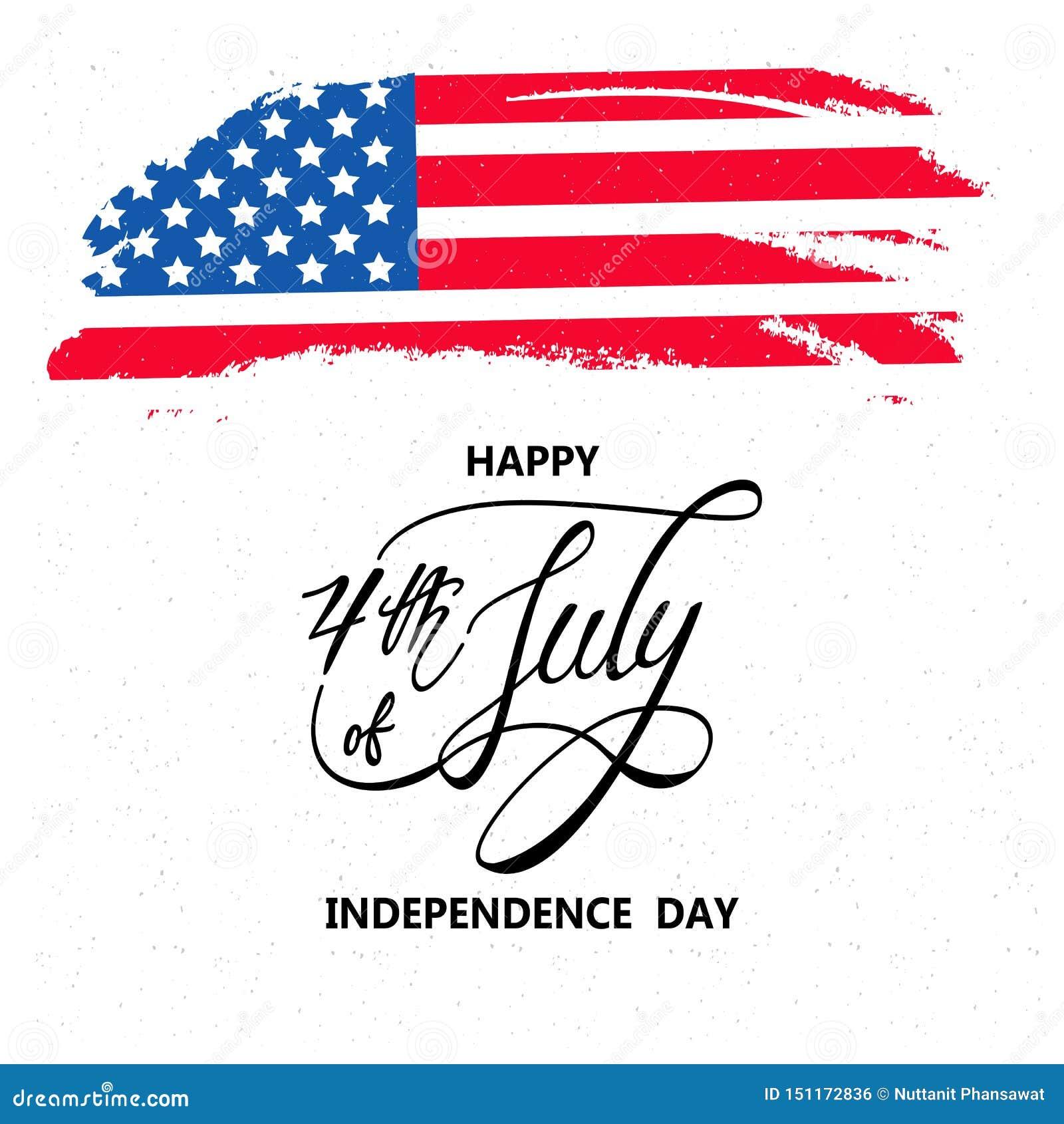Día de la Independencia feliz o 4to del fondo del vector de julio o del gráfico de la bandera