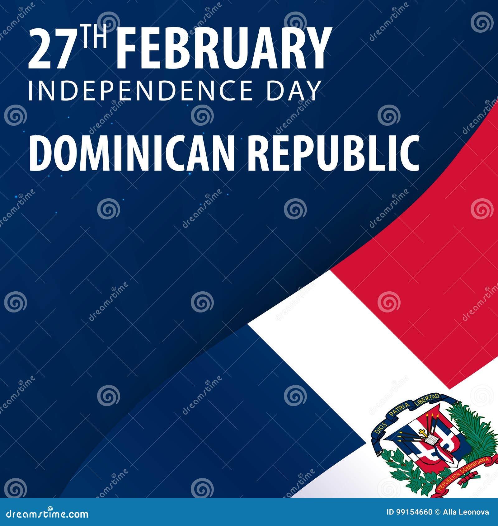 Día de la Independencia de República Dominicana Bandera y bandera patriótica
