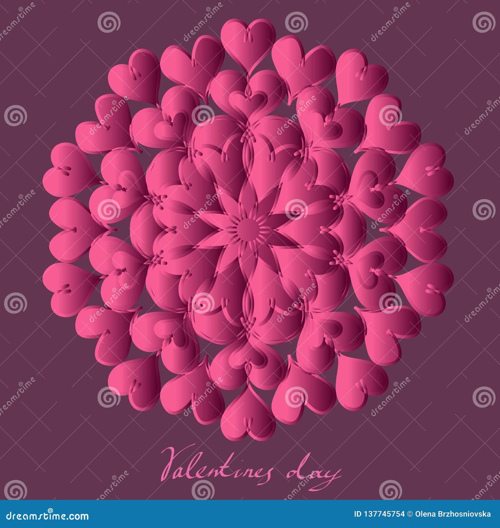 Día de San Valentín feliz, tarjeta del vector