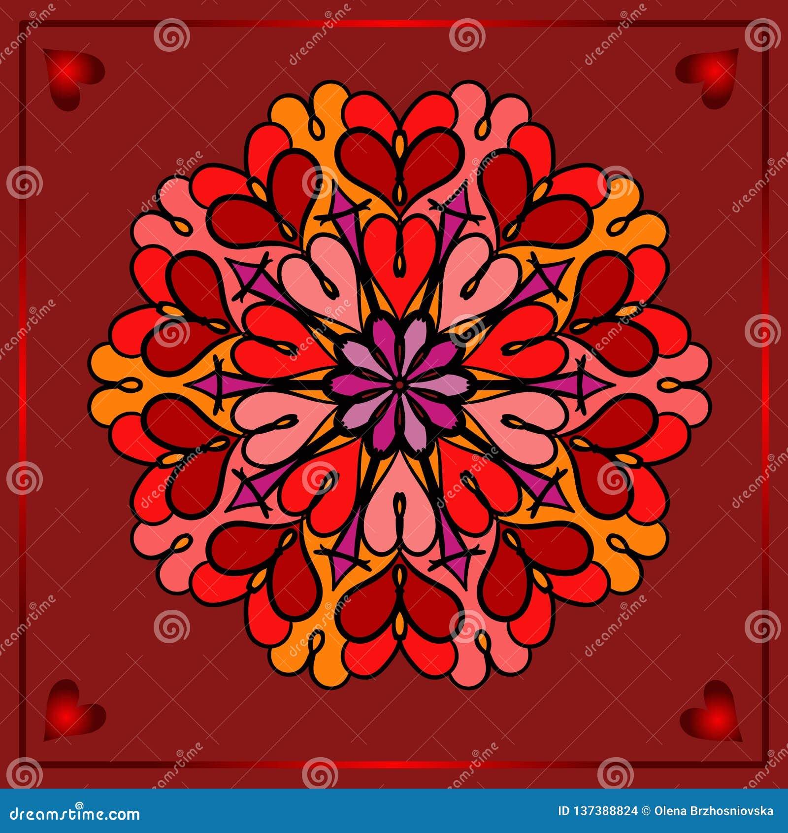 Día de San Valentín feliz, tarjeta festiva del vector