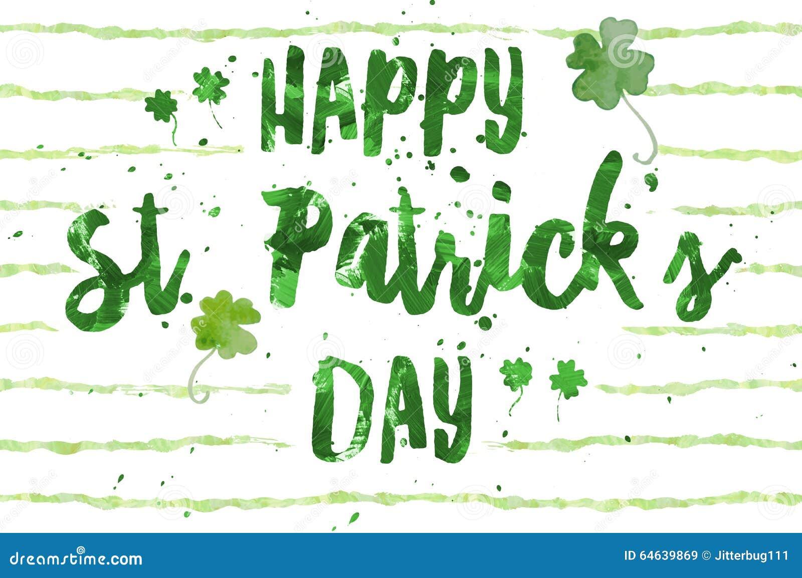 Día del St Patrick feliz