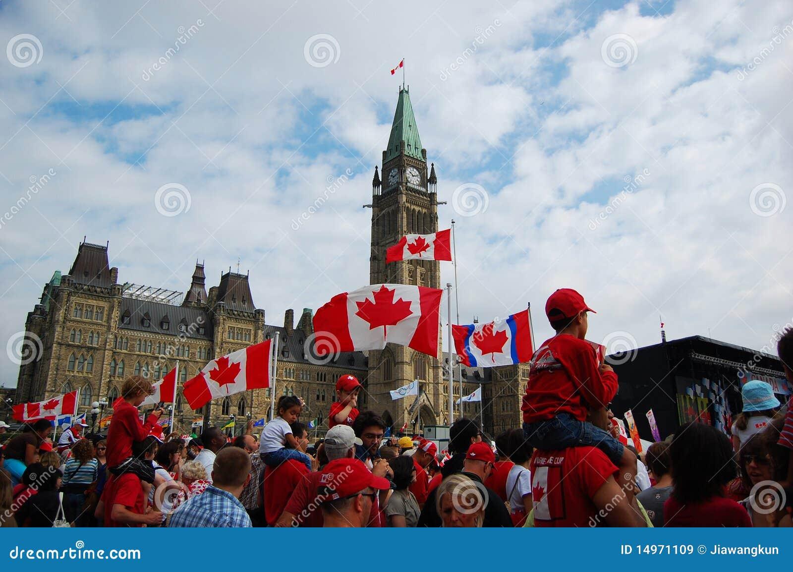 Día en colina del parlamento, Ottawa de Canadá