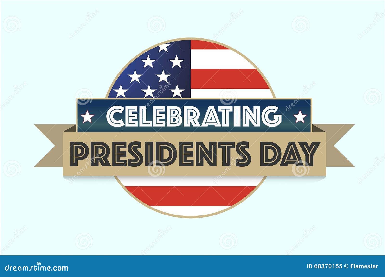 Día feliz de los presidentes en fondo gris con la bandera americana