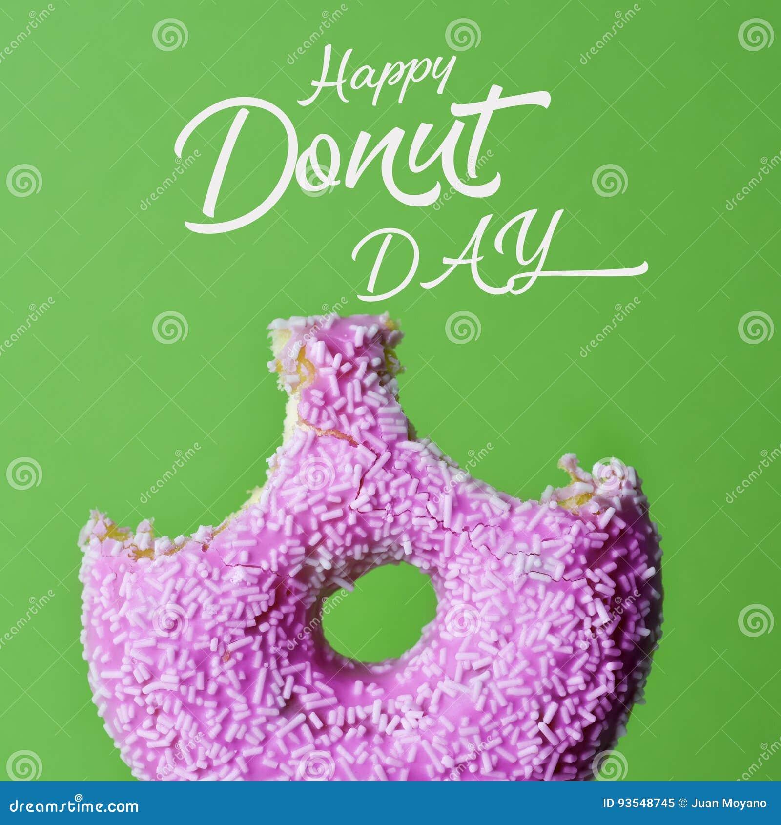 Día feliz del buñuelo y del buñuelo del texto