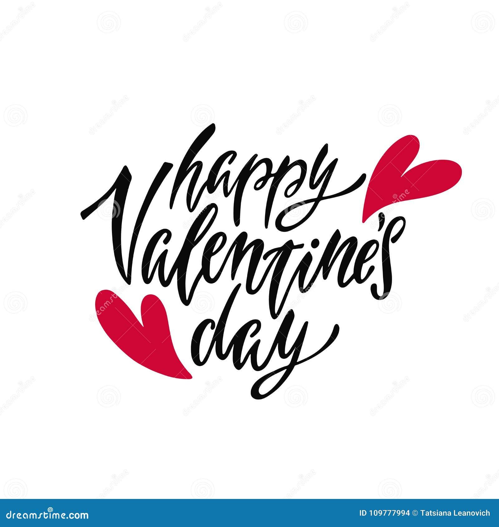 Día Feliz Del S De La Tarjeta Del Día De San Valentín Frase