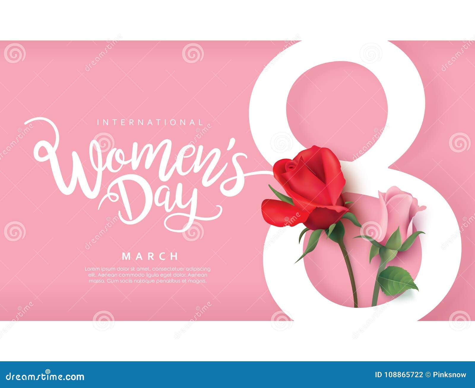 Día feliz del ` s de las mujeres