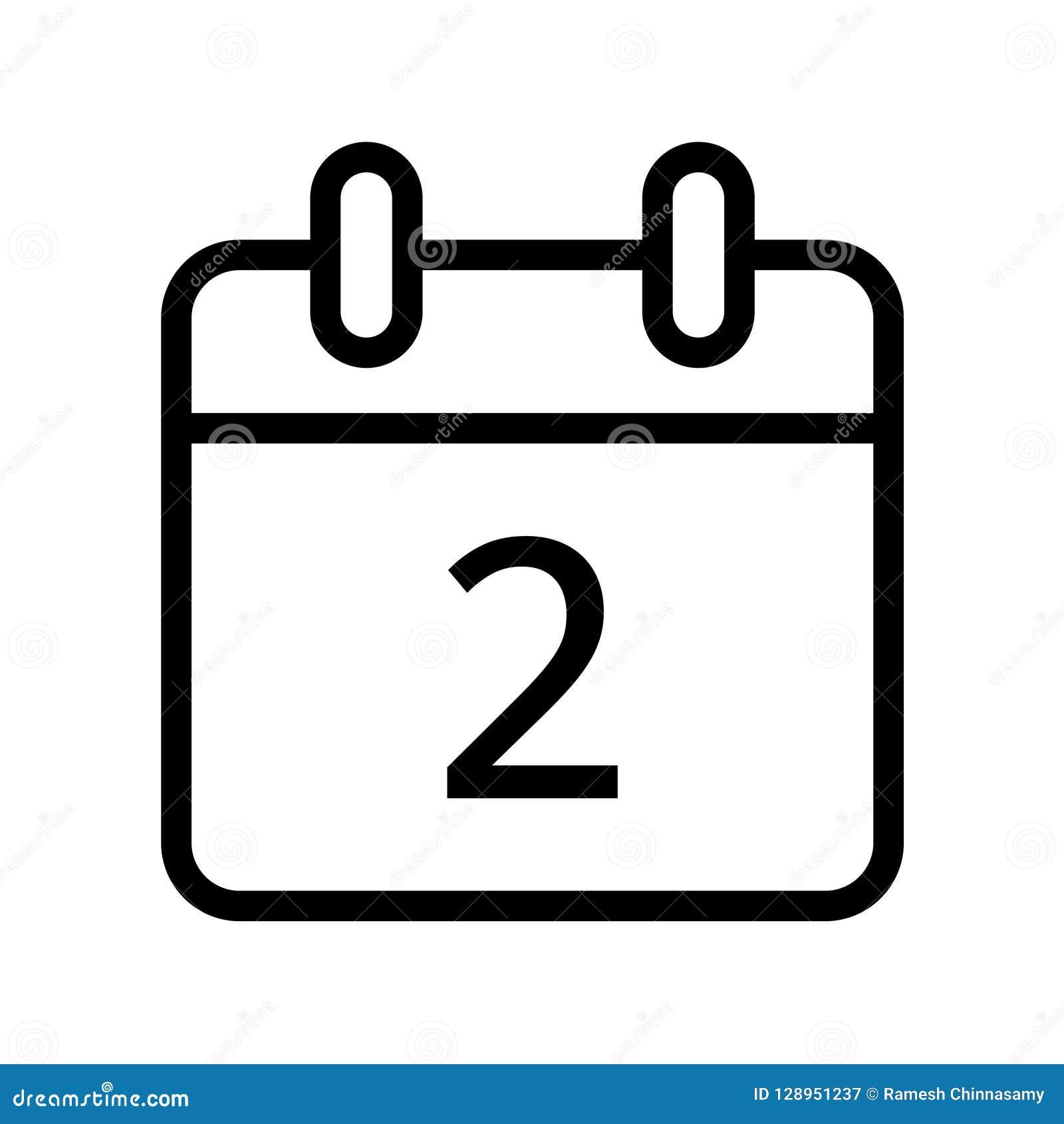 Día natural icono de dos fechas
