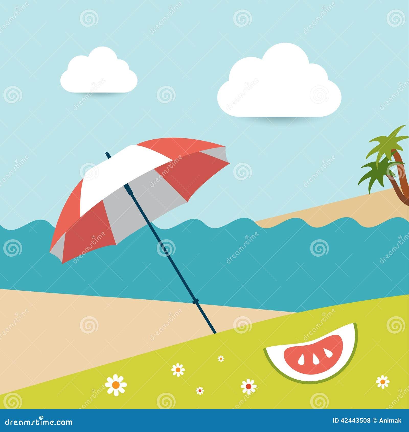 Día soleado de la playa del verano