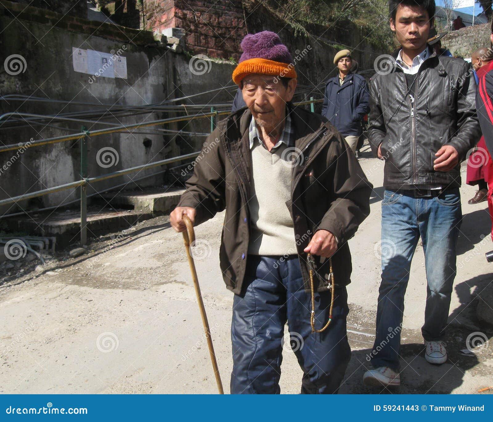 Download Día Tibetano Dharamala La India De La Sublevación De La Anciano Foto de archivo editorial - Imagen de activista, activismo: 59241443