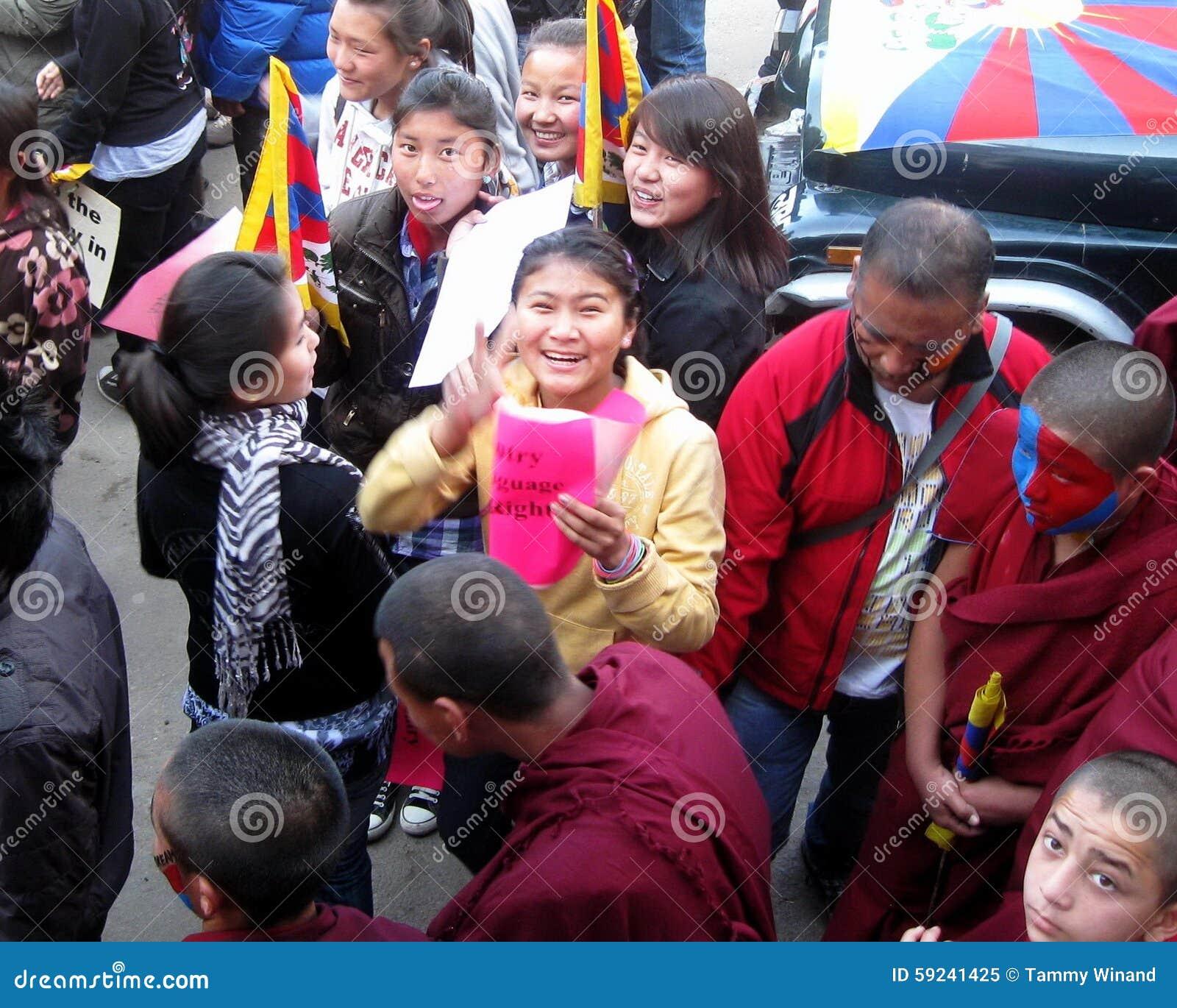Download Día Tibetano Dharamsala La India De La Sublevación De La Juventud Imagen editorial - Imagen de sociedad, manifestantes: 59241425