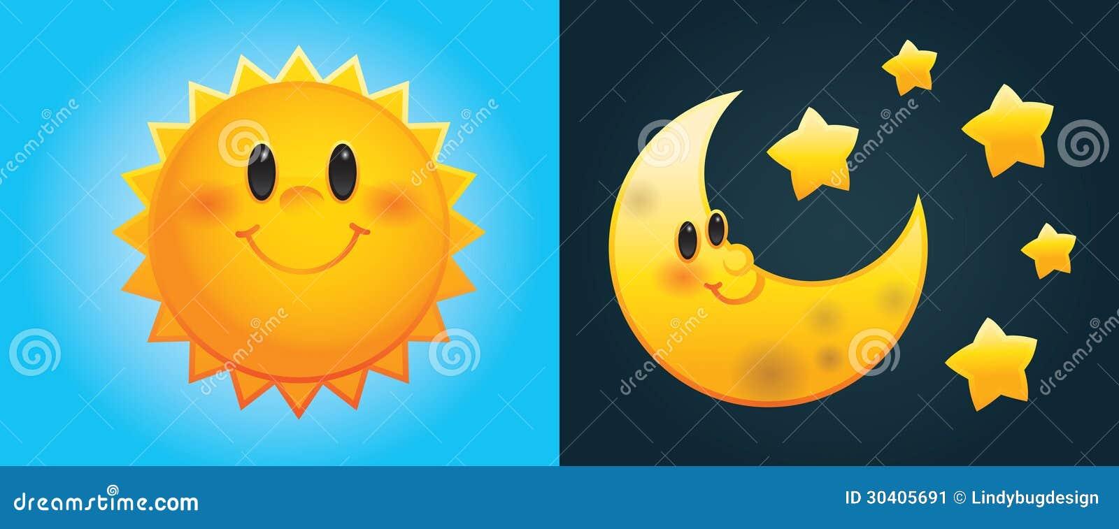 Sol y luna de la historieta