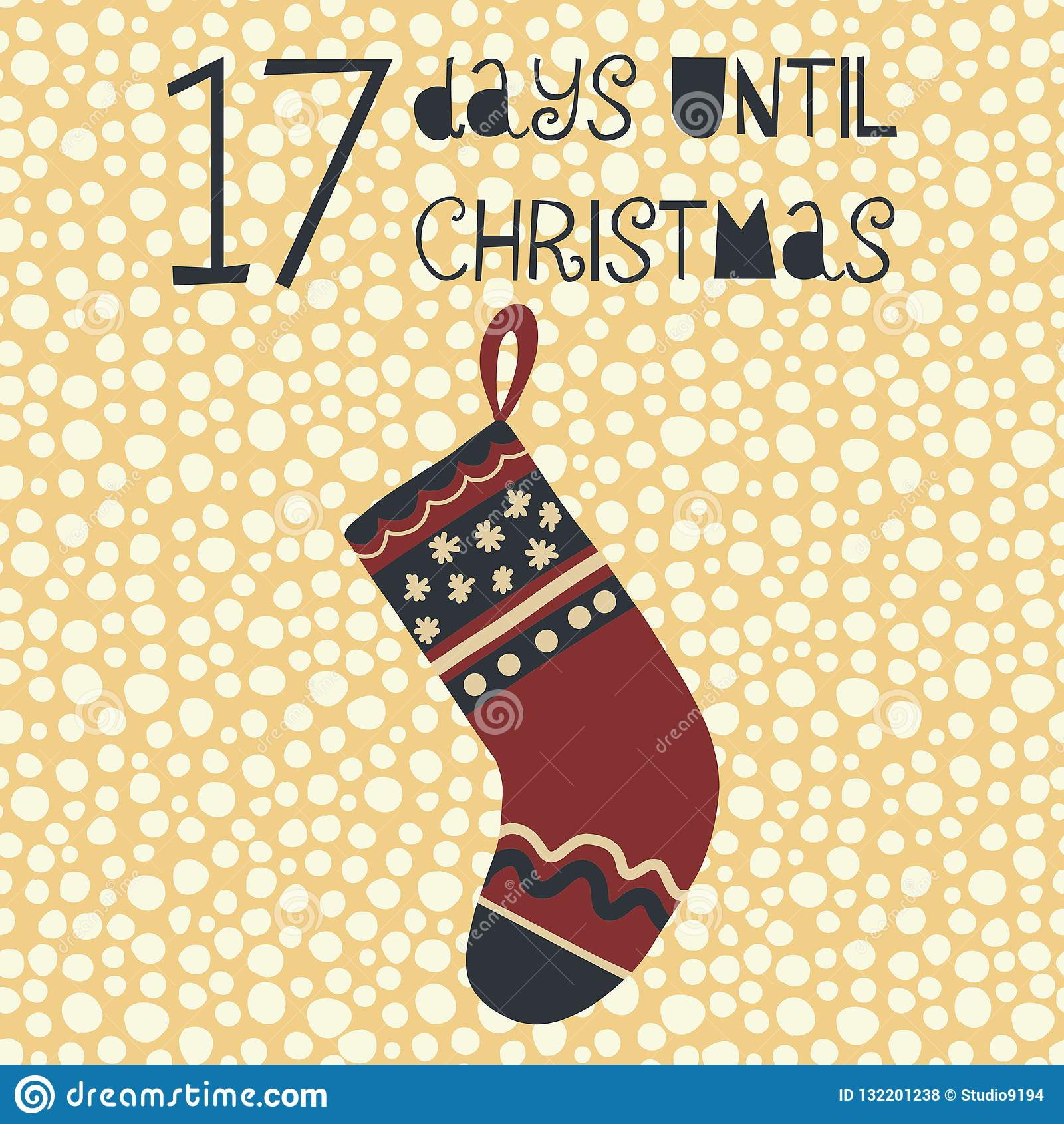 17 días hasta el ejemplo del vector de la Navidad cuenta de +EPS los días  hasta la pizarra de la Navidad
