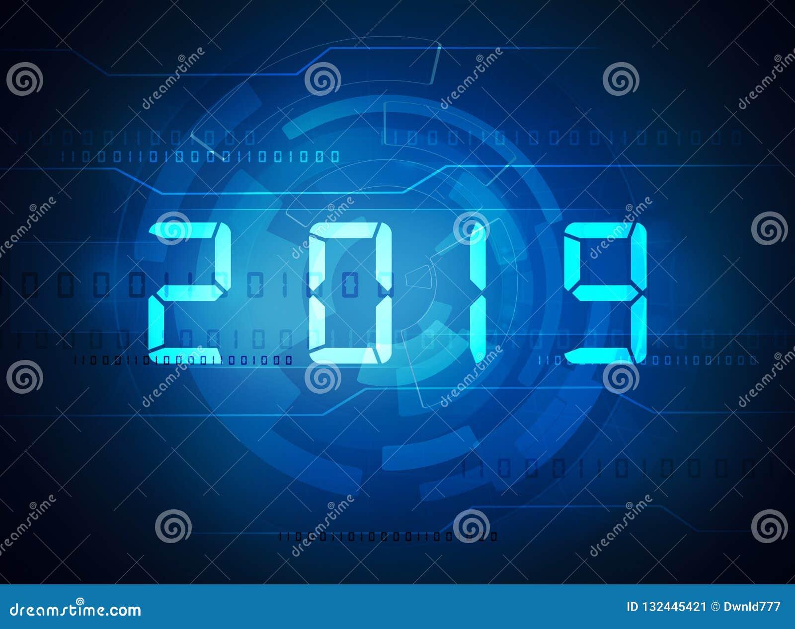 Dígitos do ano novo 2019