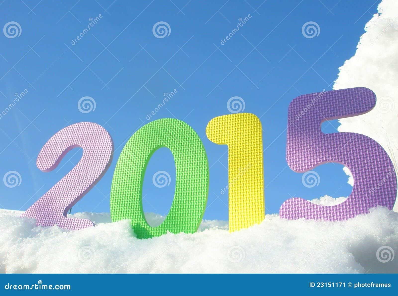 Dígitos do ano novo feliz 2015