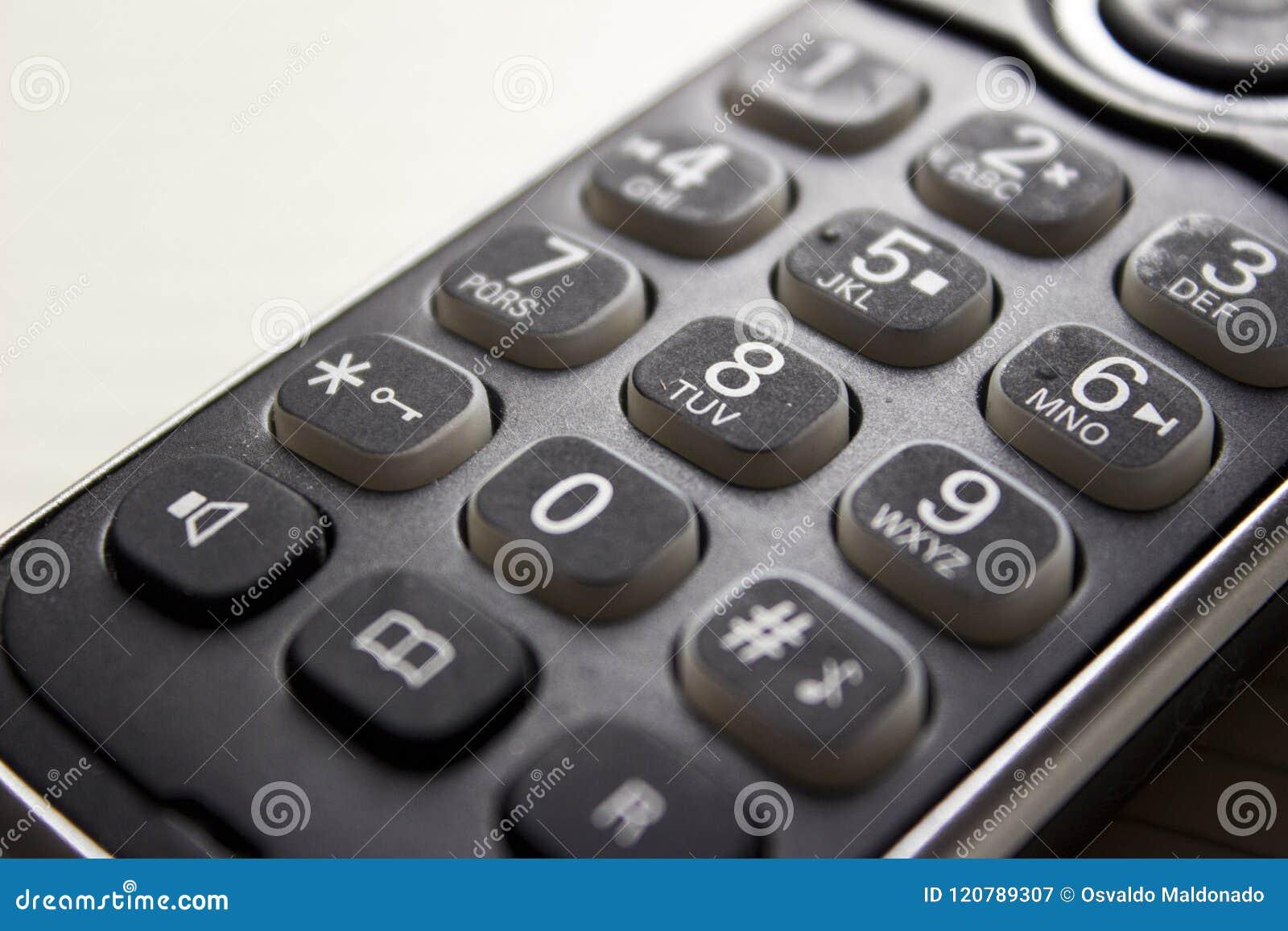 Dígitos velhos do telefone
