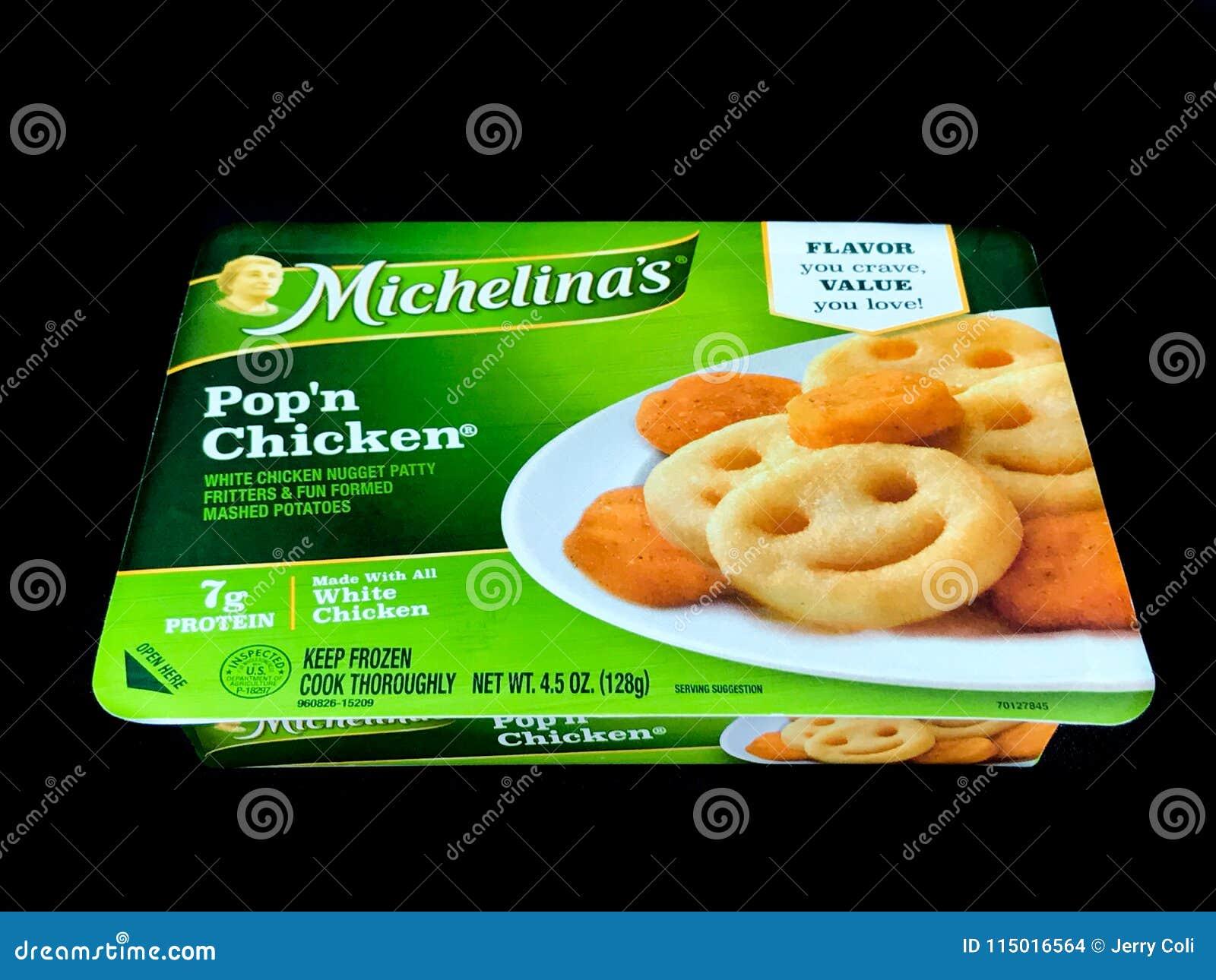 Dîner congelé par poulet du ` n de bruit du ` s de Michelina