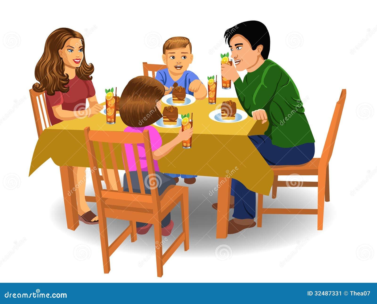 d ner de famille image stock image du manger bonheur 32487331. Black Bedroom Furniture Sets. Home Design Ideas