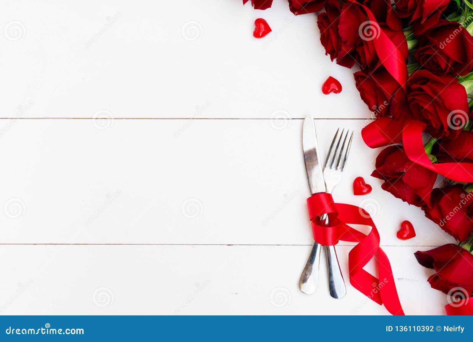 Dîner de jour de valentines
