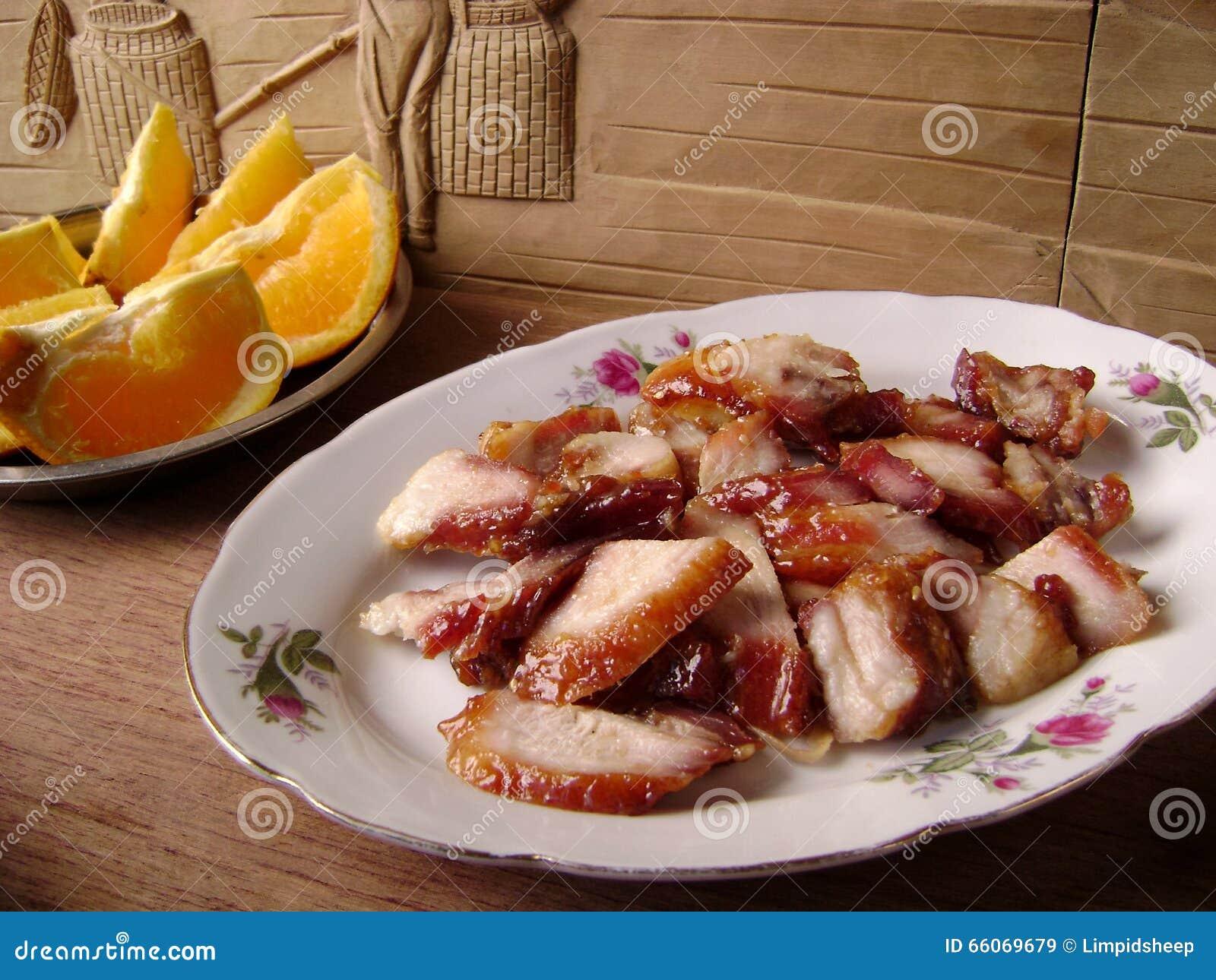 Dîner de porc de SIU de char de rôti