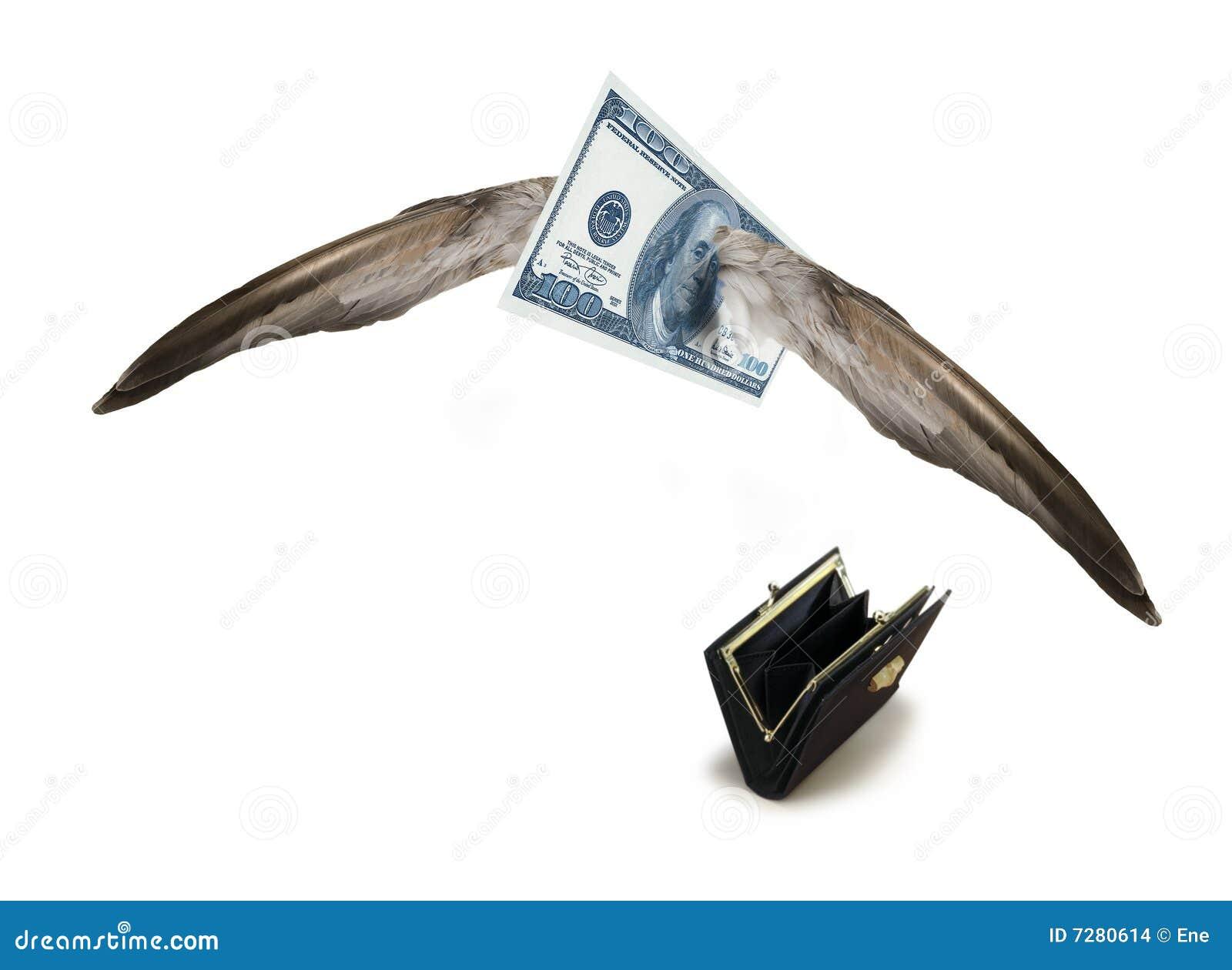Dólar ausente que vuela