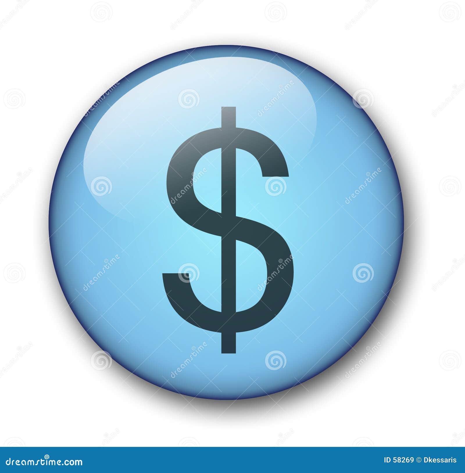 Dólar del botón del Web del Aqua