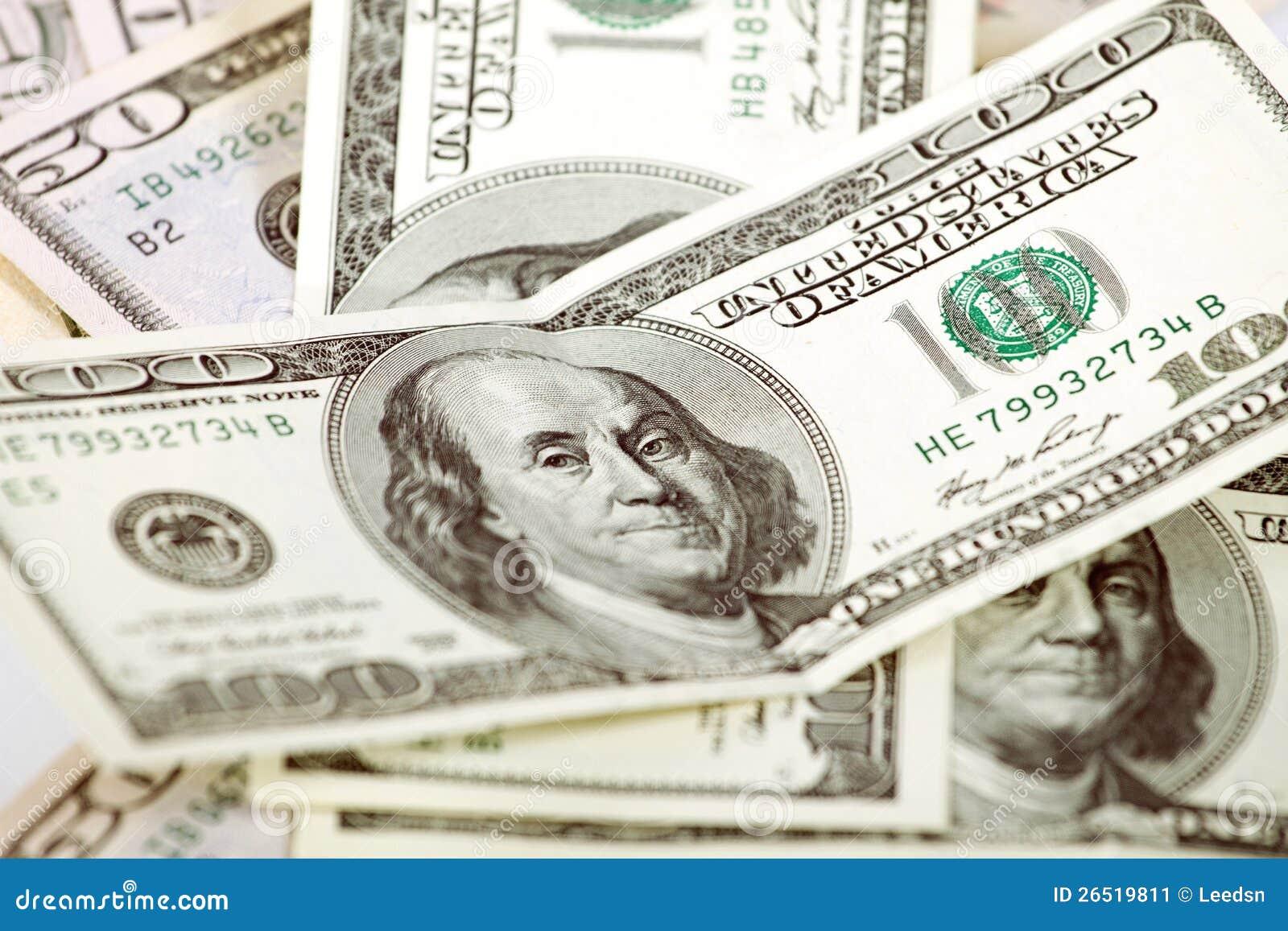 Dólares abstratos do fundo