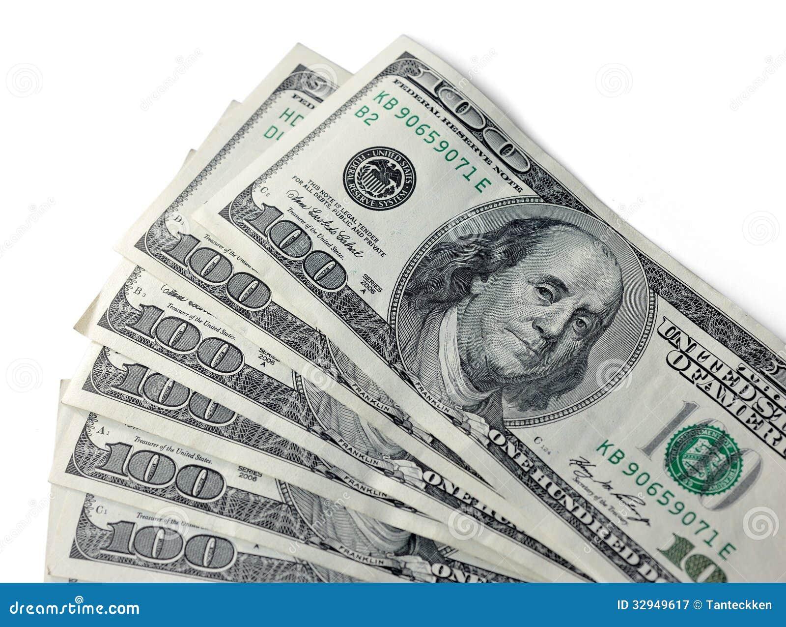 Dólares Americanos De Fondo Fotografía De Archivo Libre