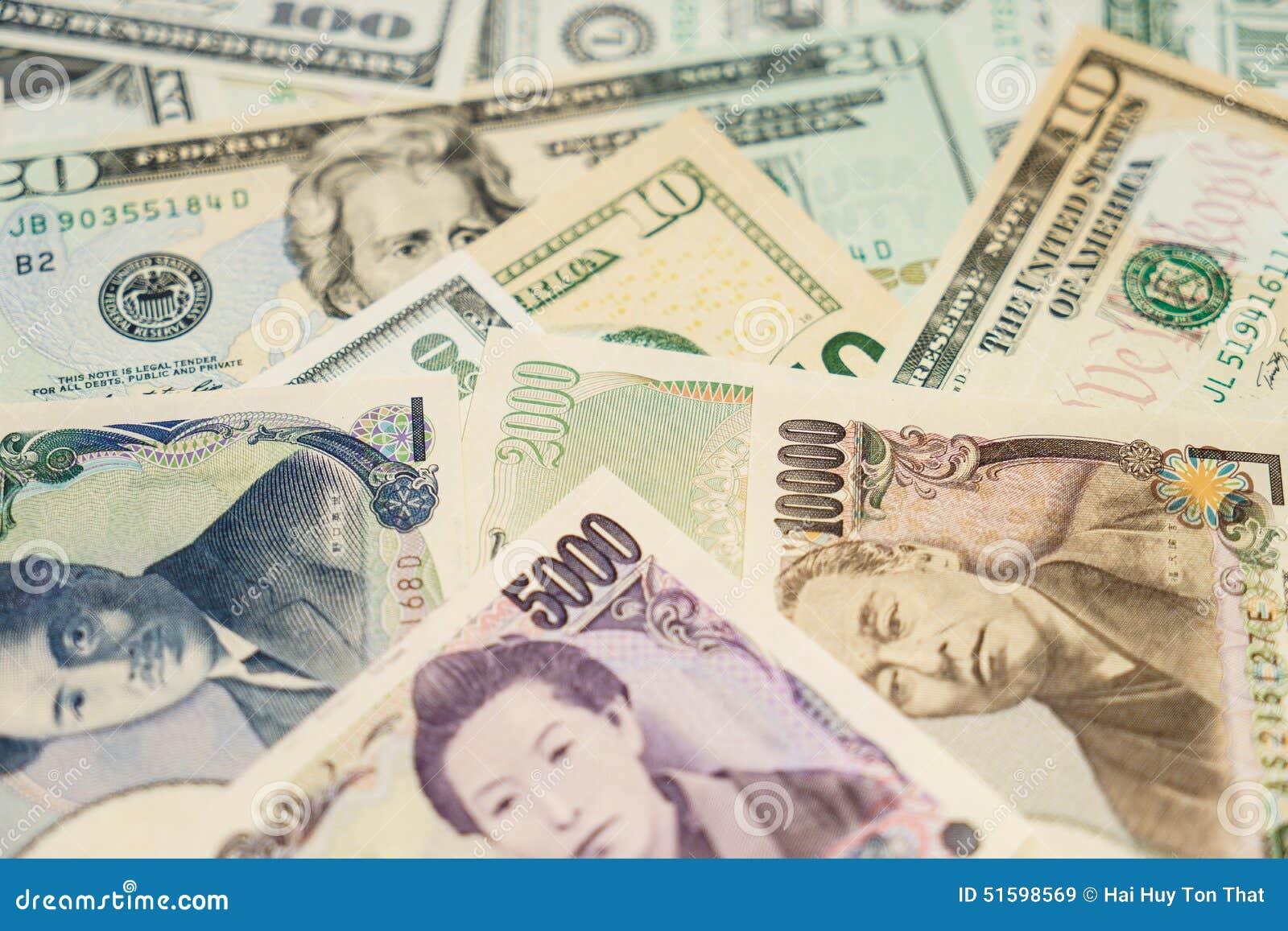 Dólares de EE. UU., yenes japoneses