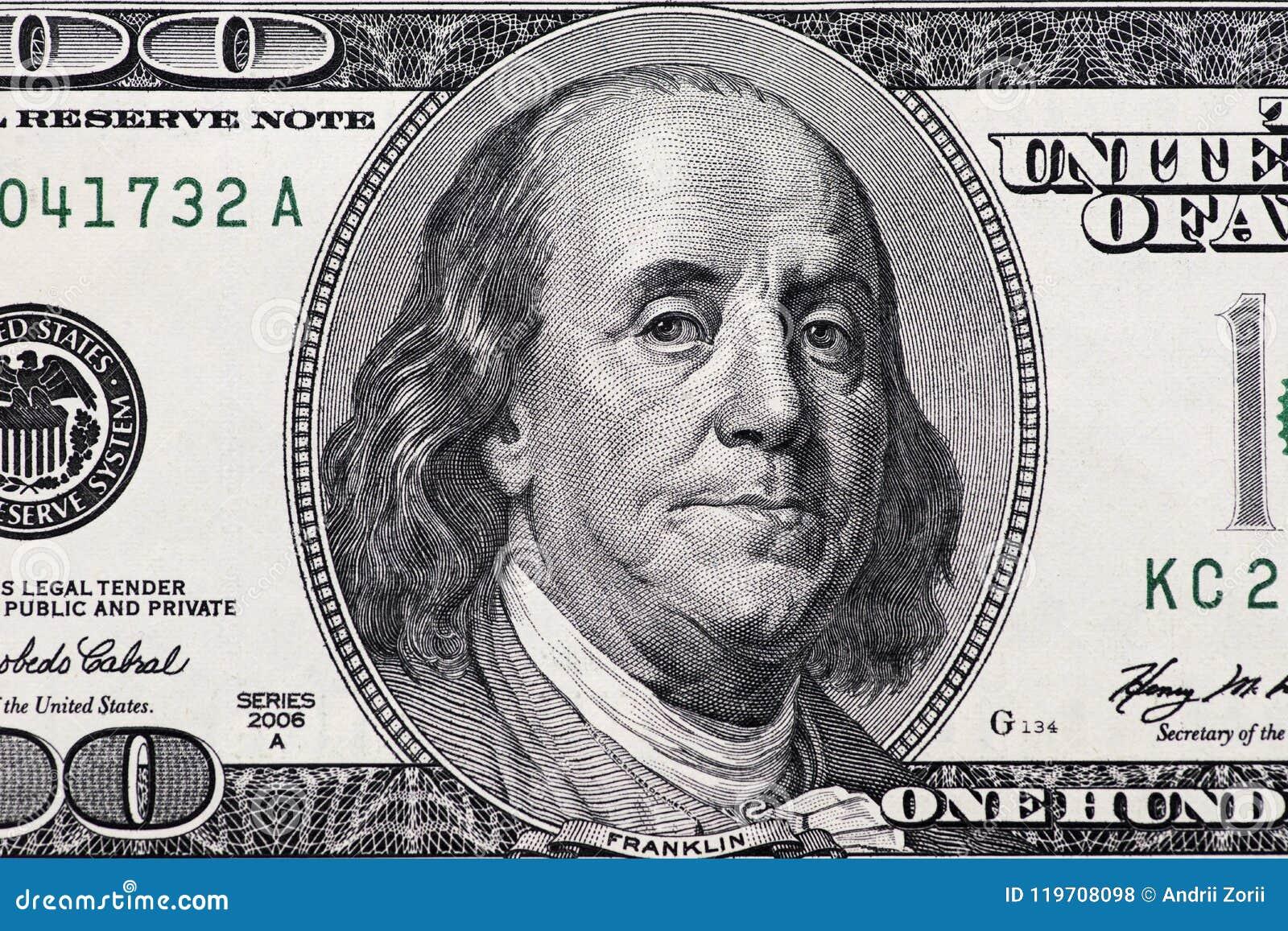 Dólares do close up Imagem altamente detalhada do dinheiro americano
