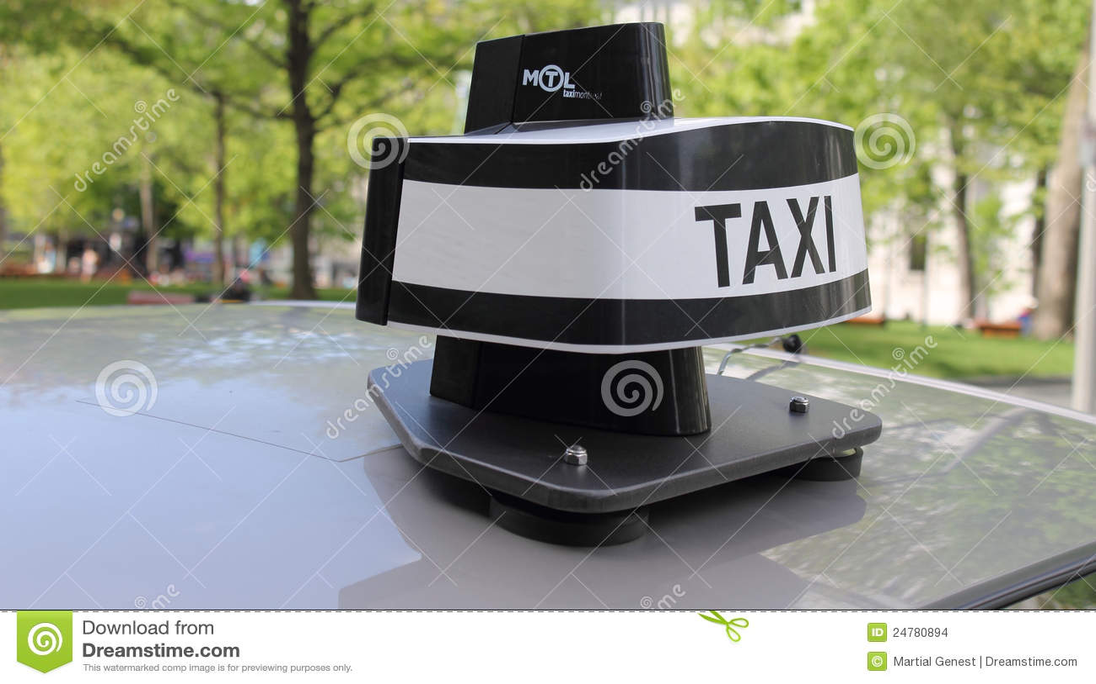 Dôme neuf de taxi