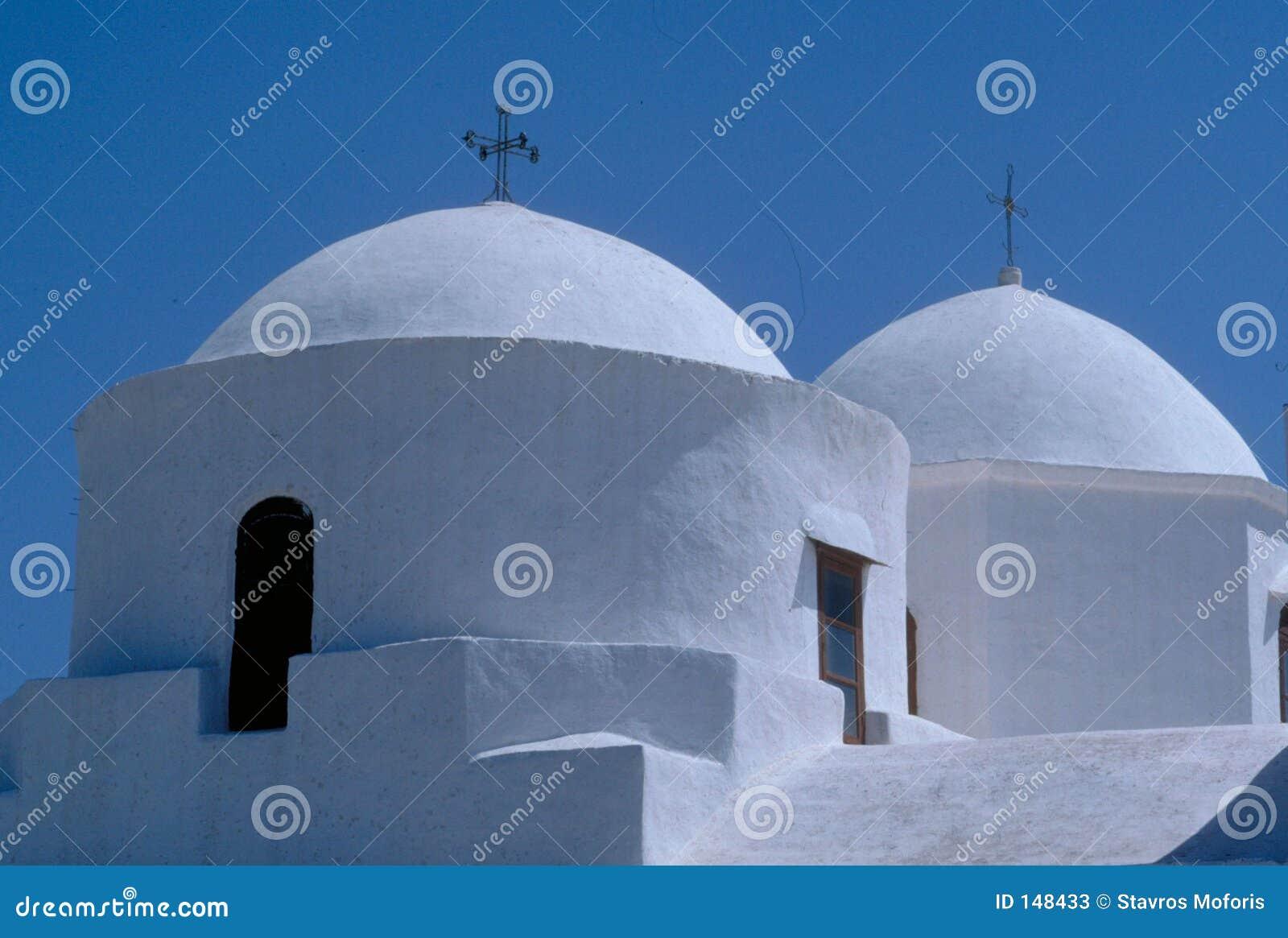Dômes d église dans Patmos