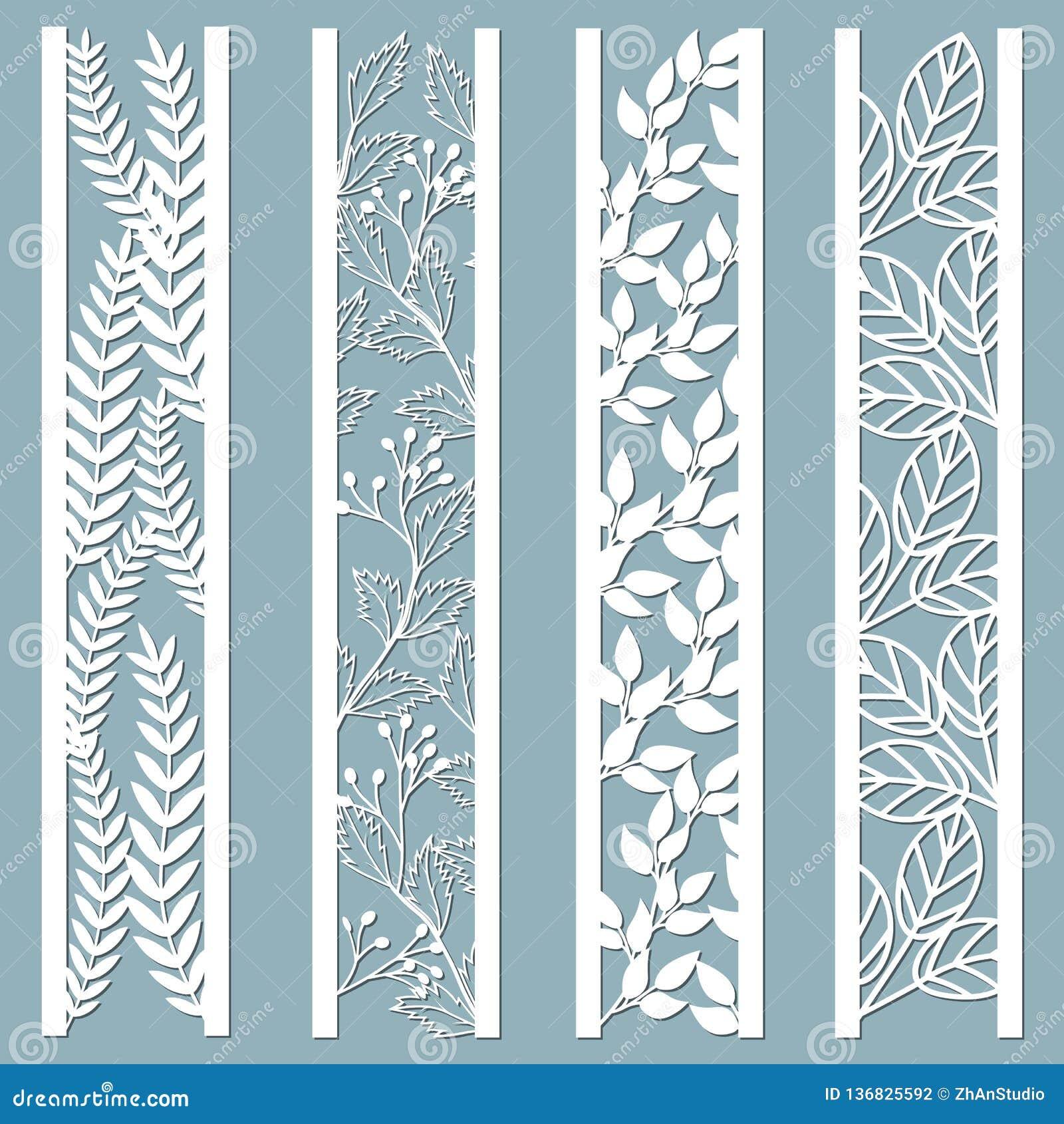 Dö, och laser klippte dekorativa paneler med den blom- modellen sidor bär, ormbunke Laser klippte dekorativt snör åt gränsmodelle