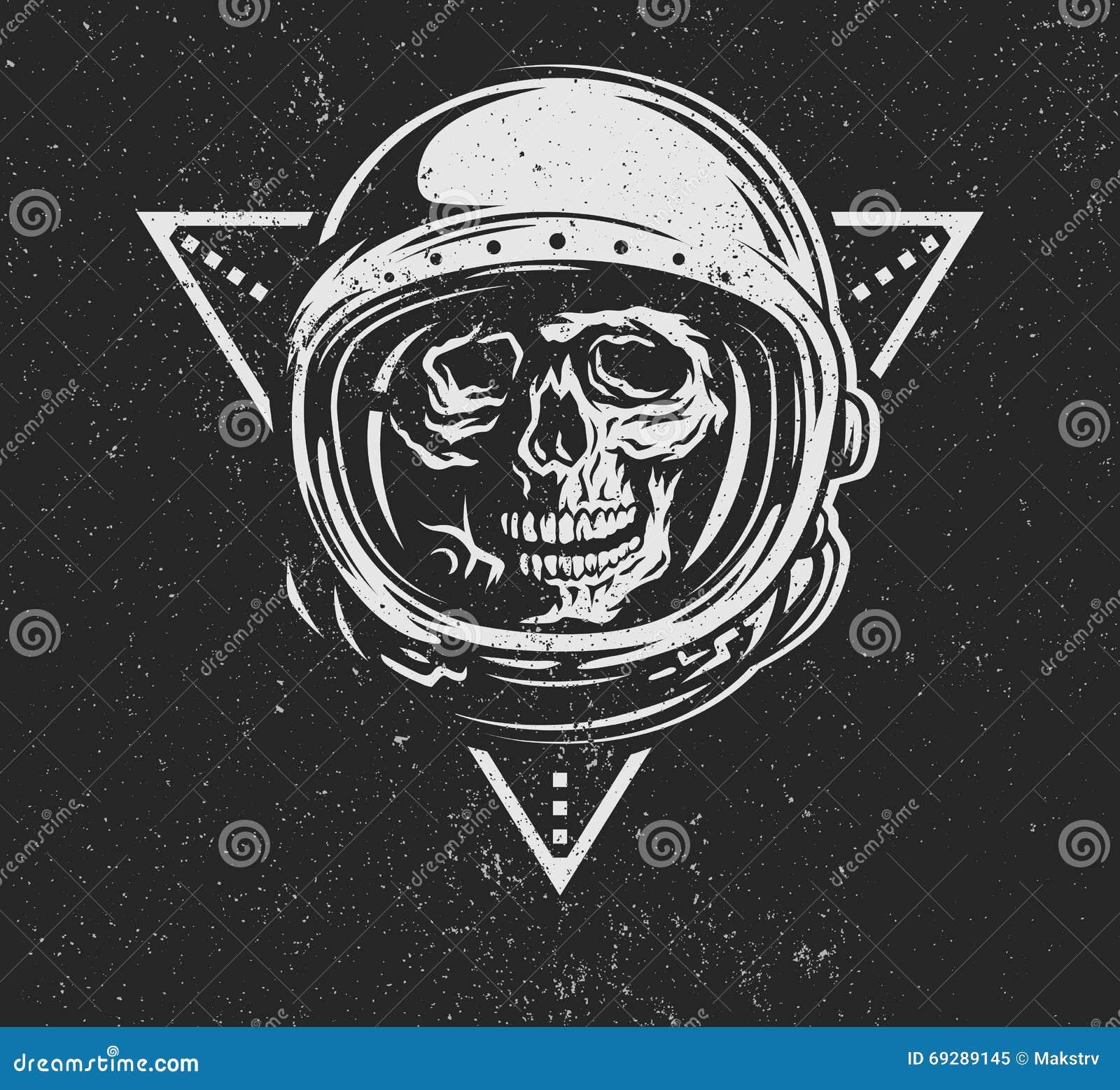 Död astronaut i spacesuit