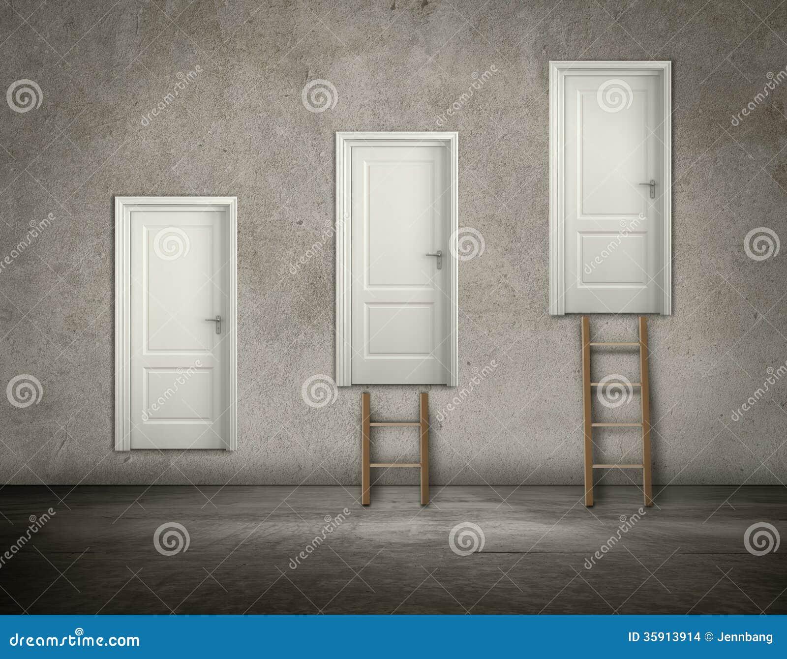 Dörr på väggen i hierarki