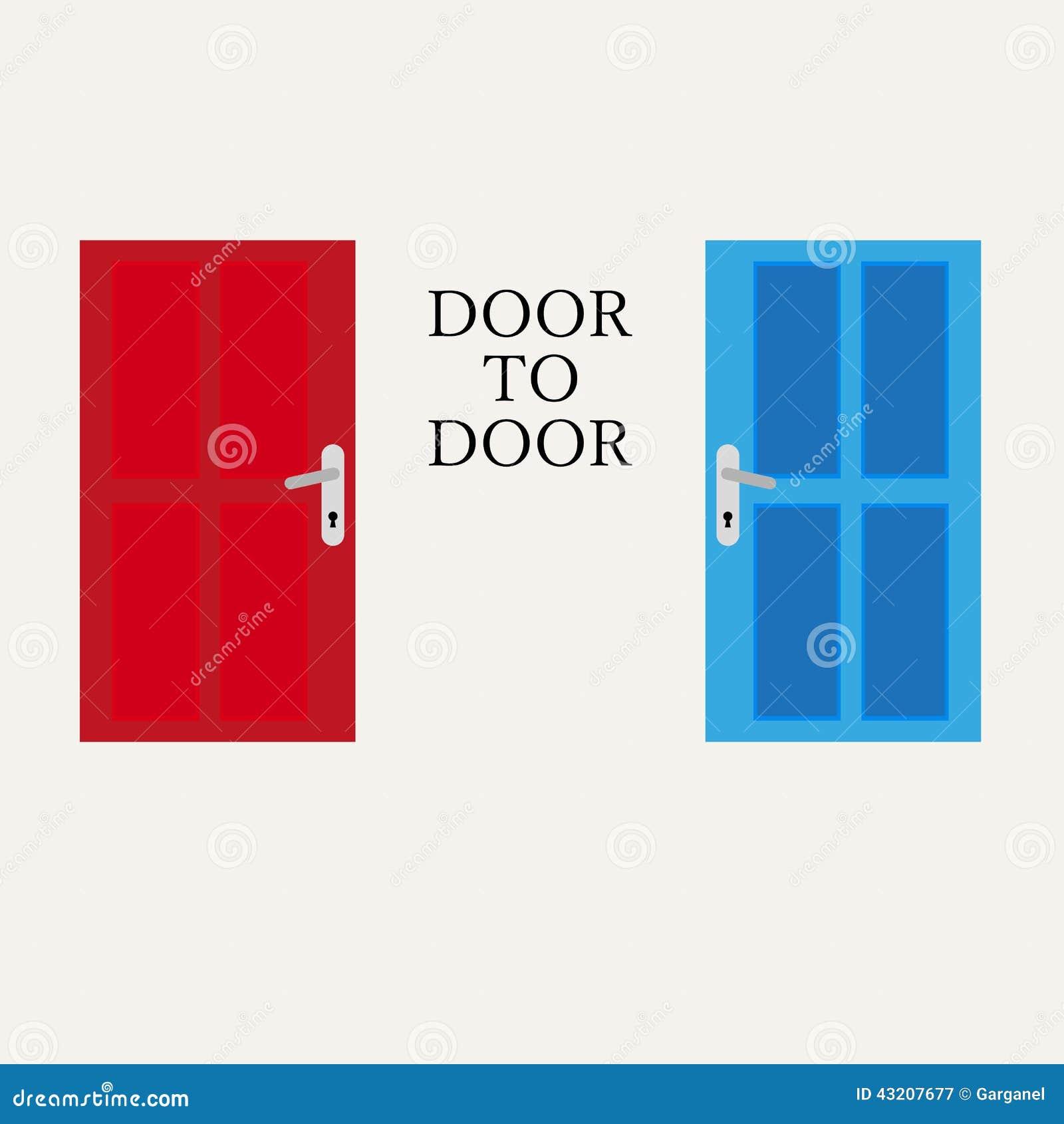 Download Dörr till dörrdiagrammet vektor illustrationer. Illustration av handtag - 43207677