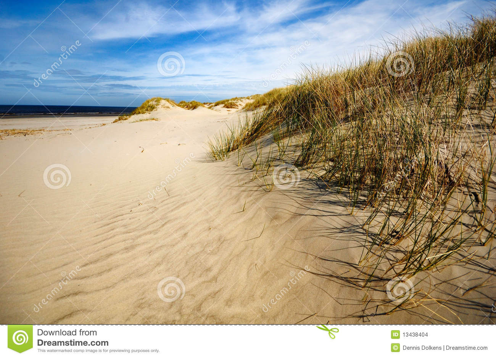 Dünen, Strand und Küste bei Ameland, die Niederlande