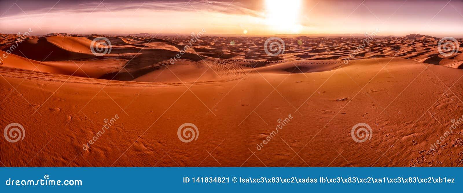 Dünen von Merzouga Wüste des Saharas marokko