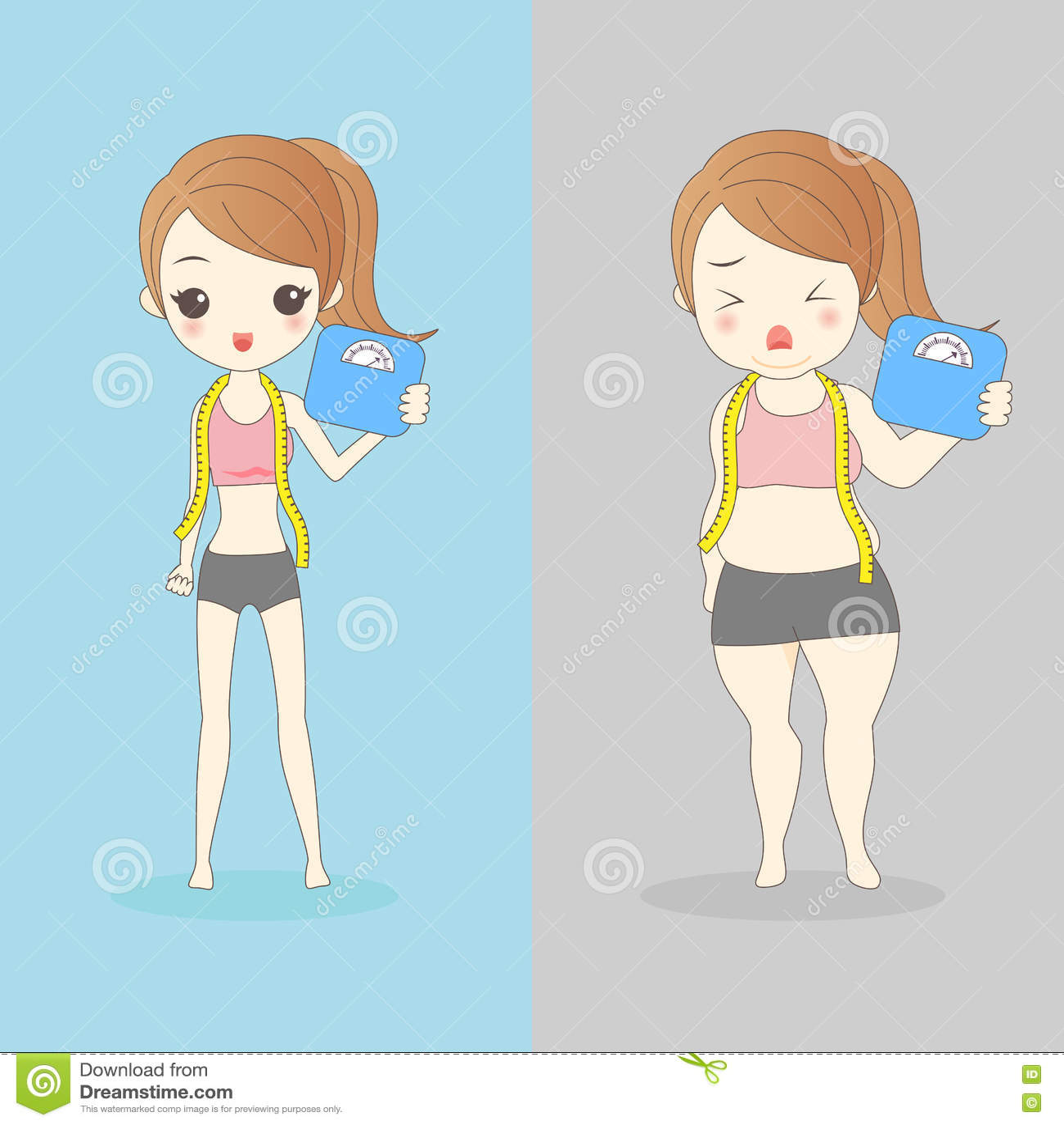 einzelne fette Mädchen