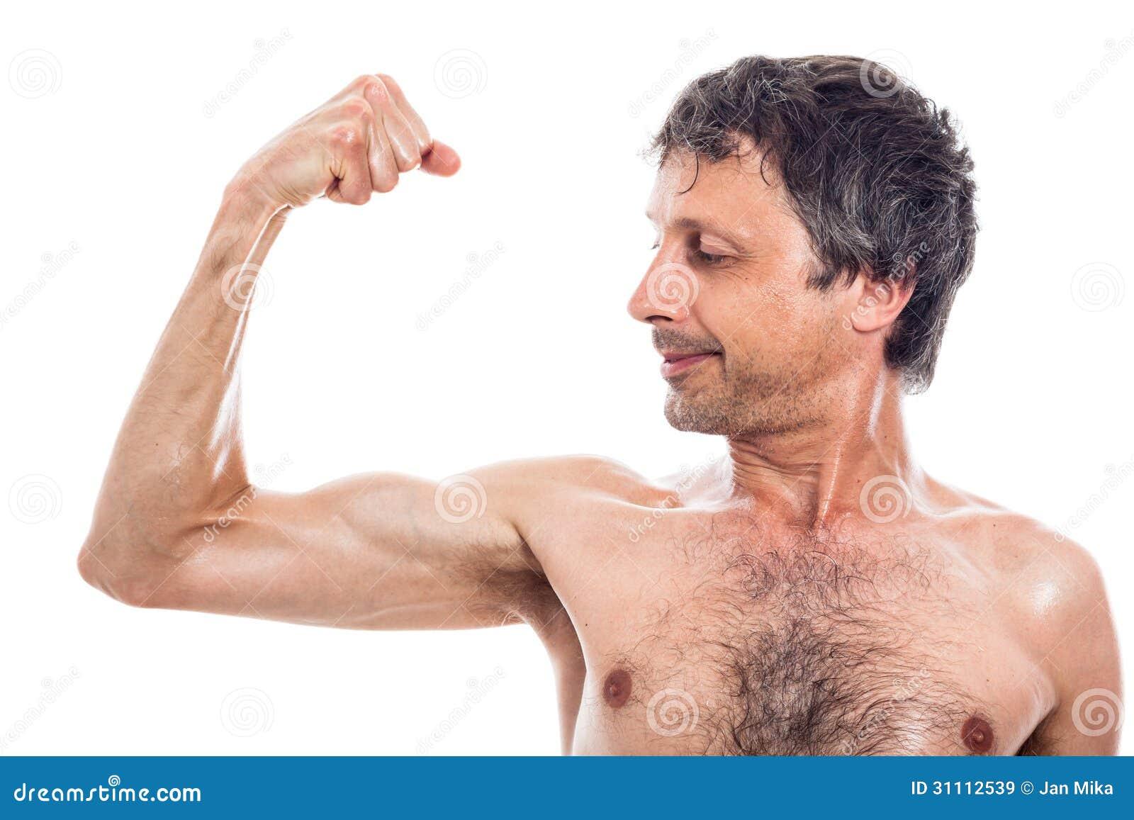 Männer dünne Muskelaufbau für