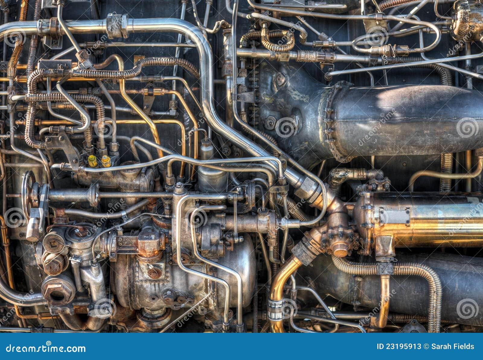 Düsentriebwerk-Klempnerarbeit