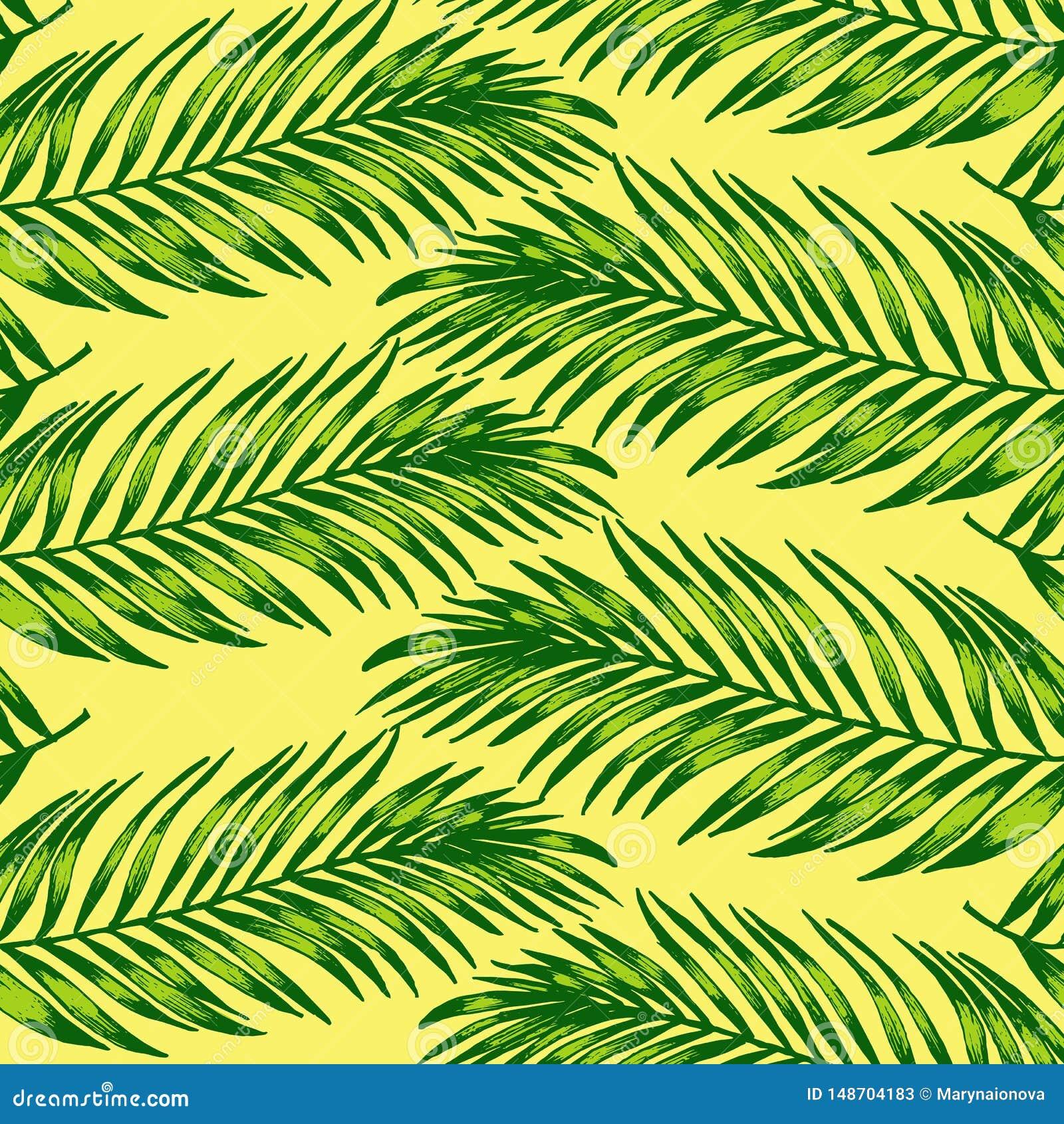 D?uga palma opuszcza pttern prostych, pastelowych kolory,