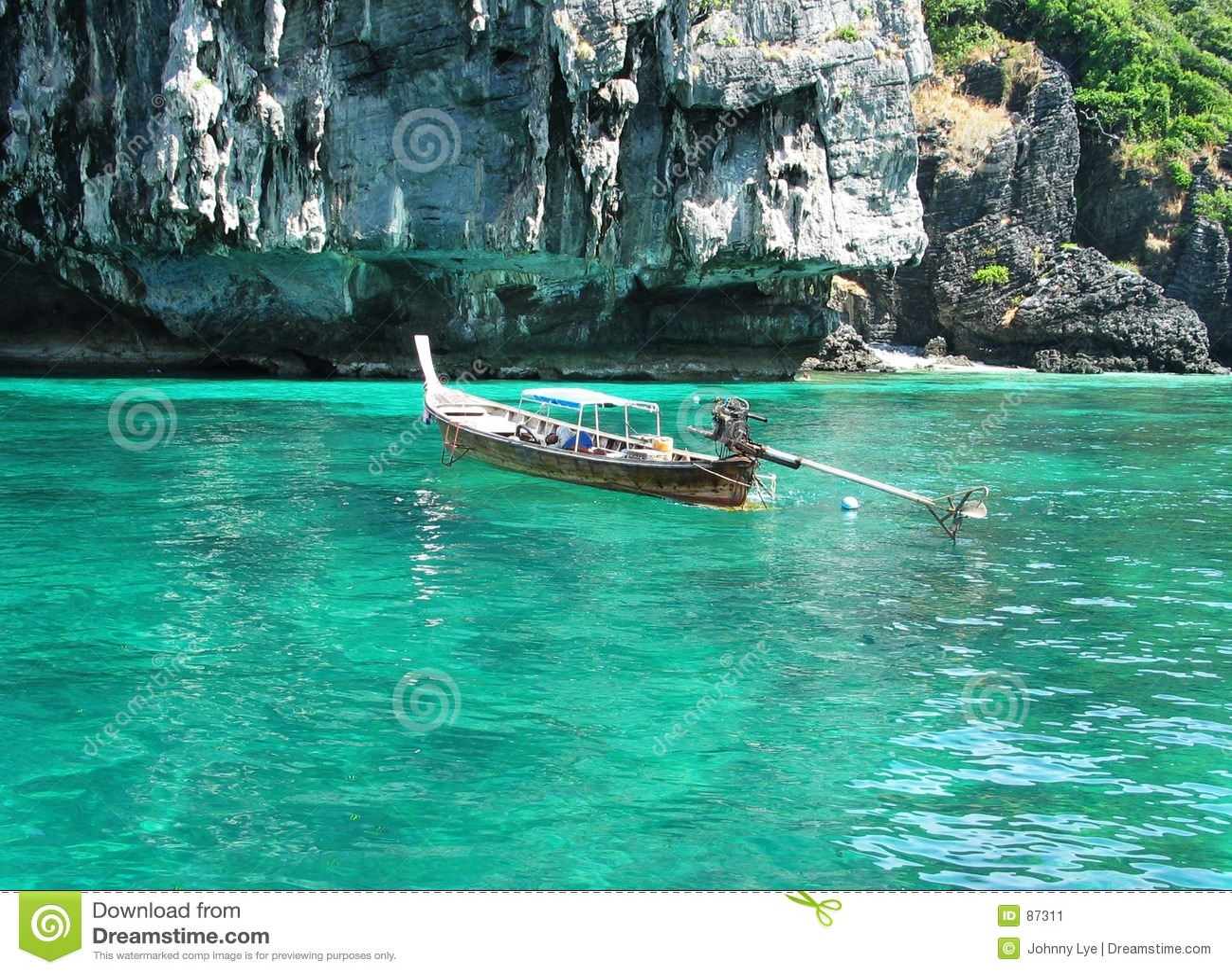 Długi ogon łodzi