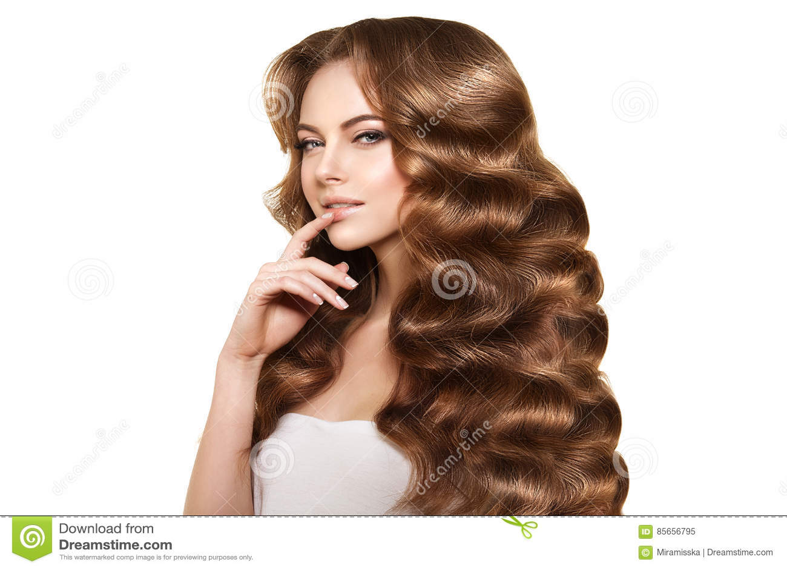 Długie Włosy Fala Kędziorów Fryzura Włosiany Salon Updo Moda