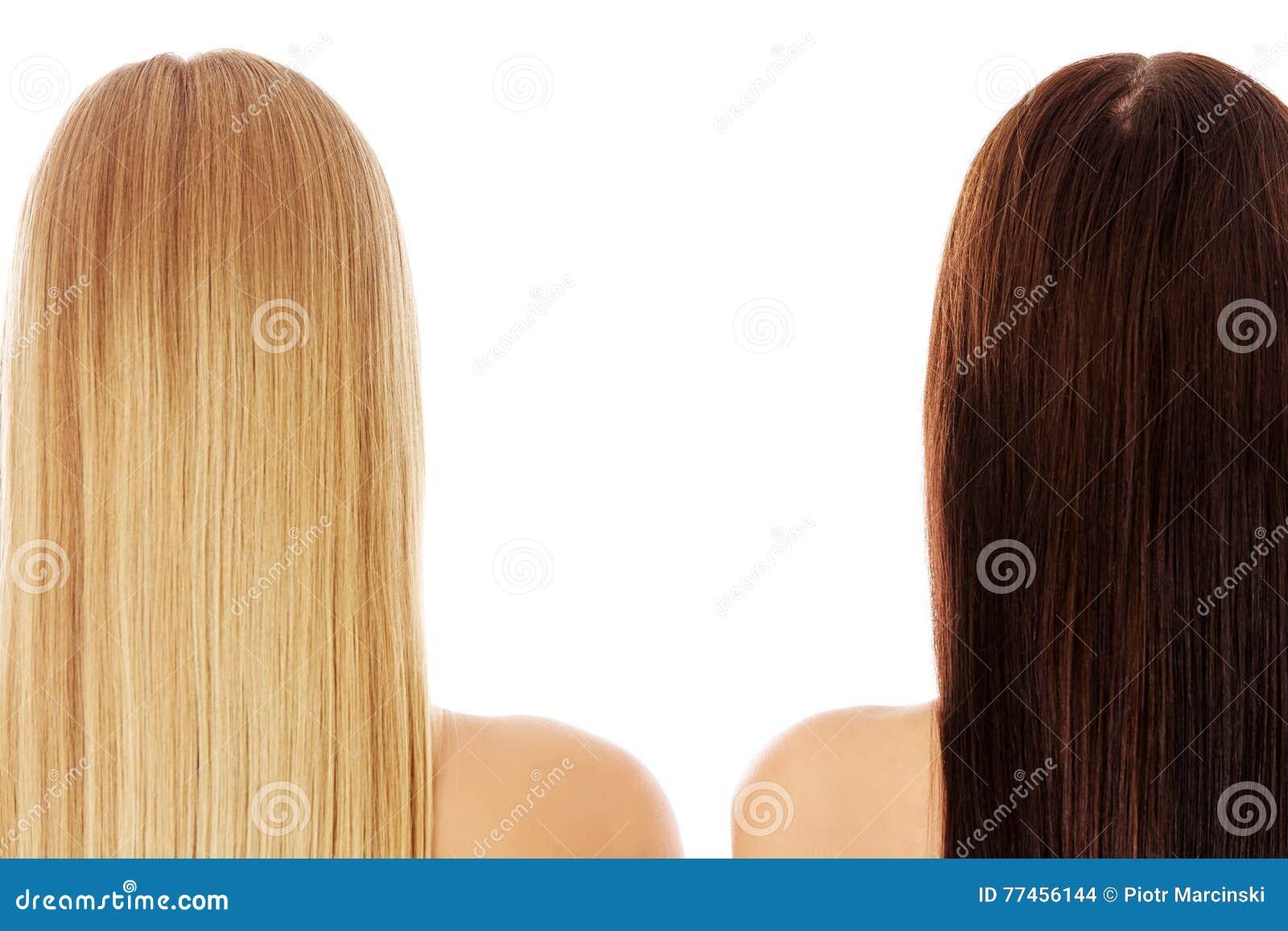 Długie włosy fryzury Włosiany salon Kobieta z zdrowym włosy