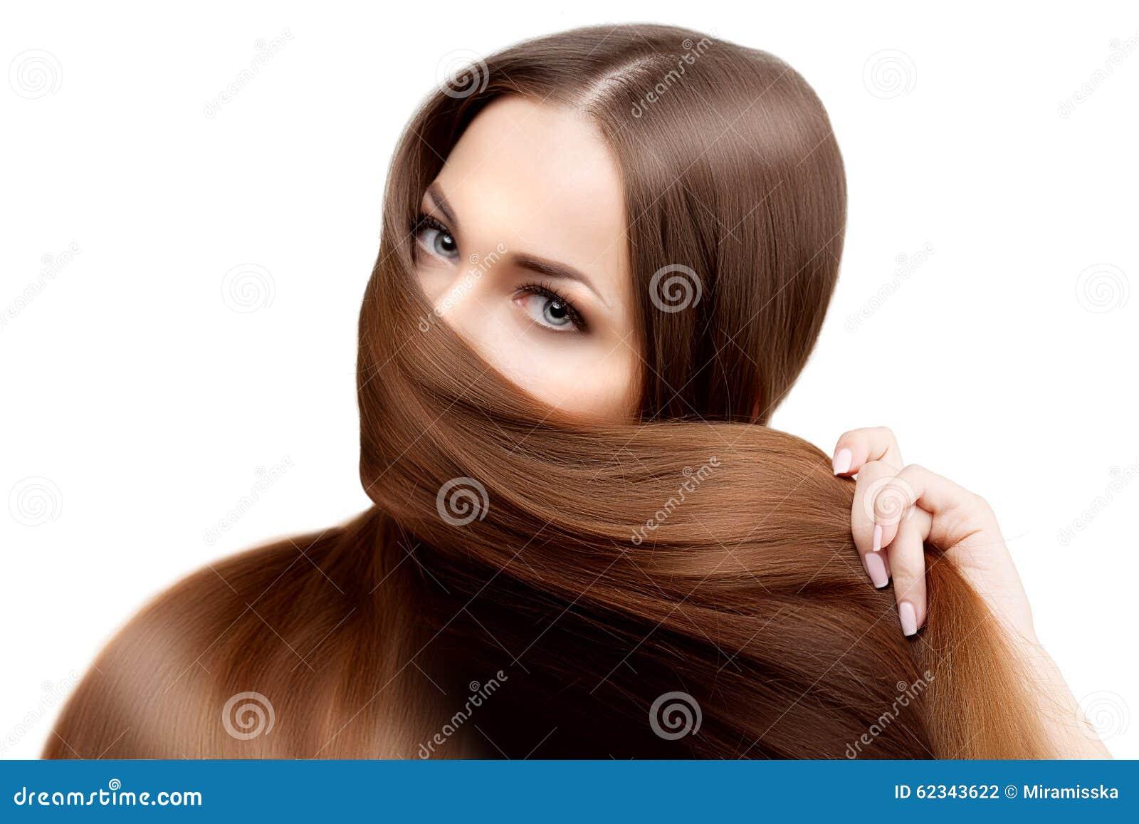 Długie Włosy Fryzury Włosiany Salon Moda Model Z Błyszczącym