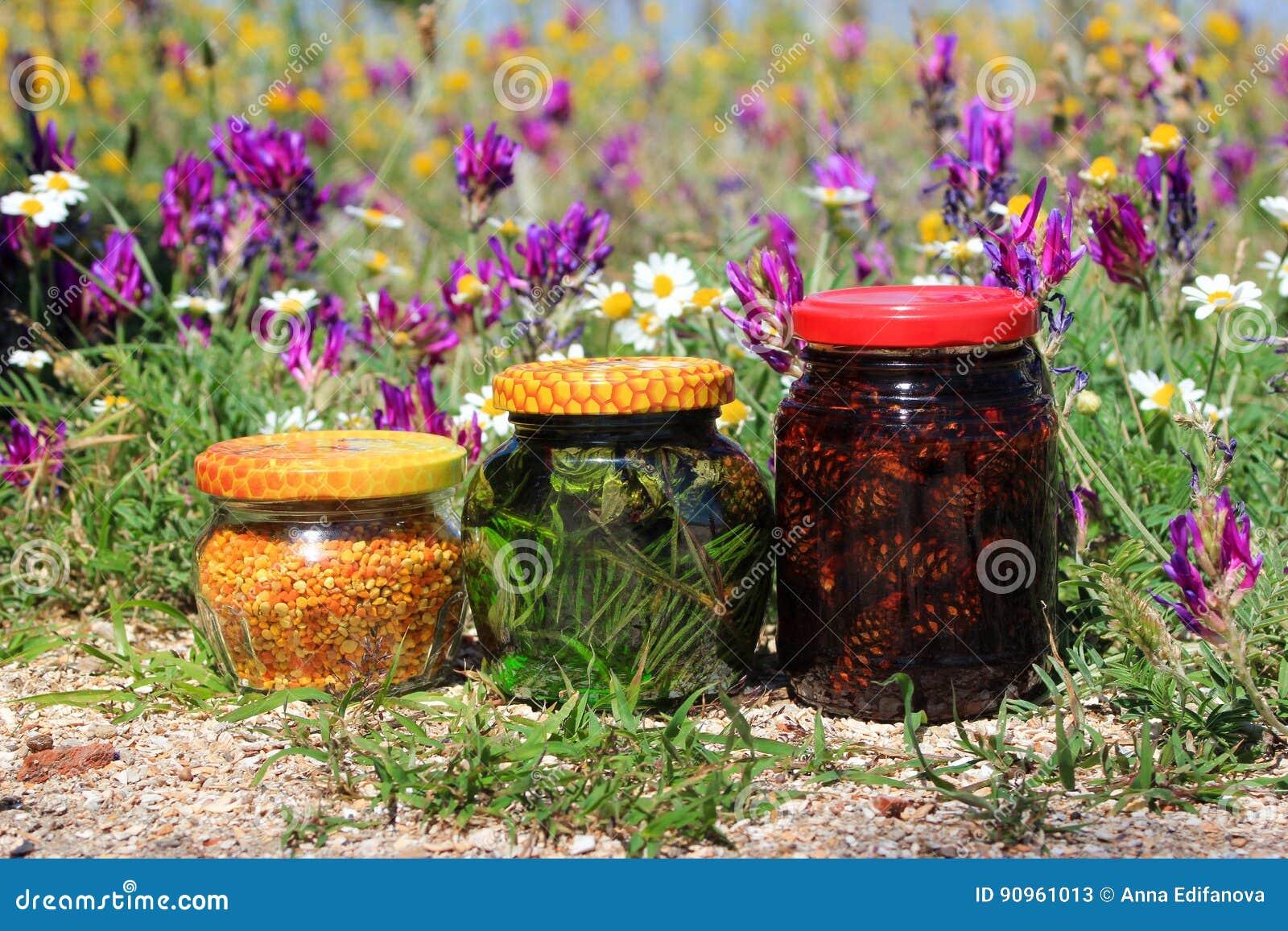 Dżemu i kwiatu pollen