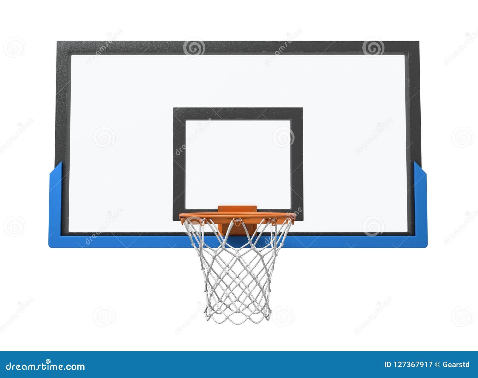 3d一个篮球篮的翻译与一张空的篮子和透明蓝球板的